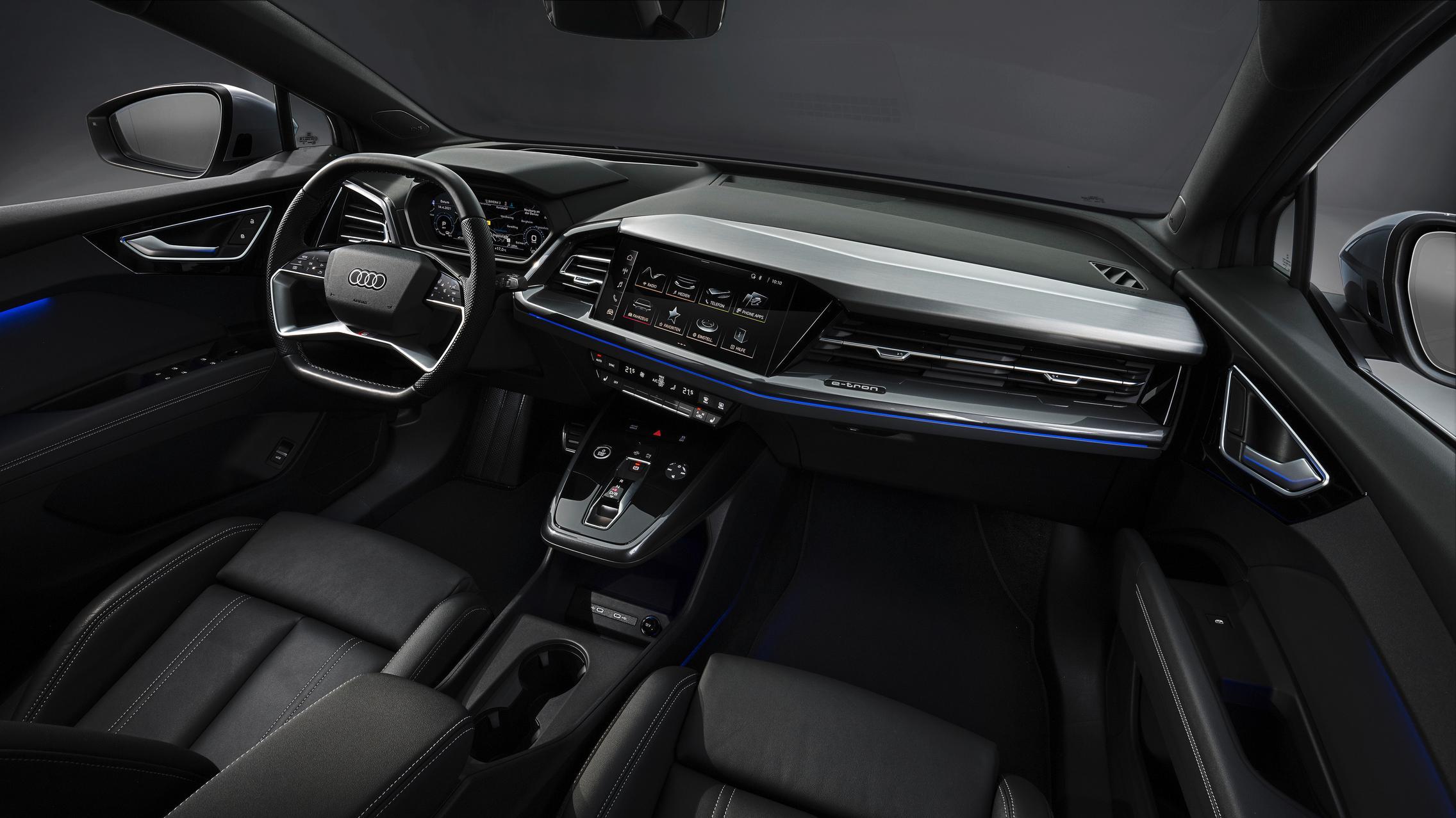 Audi Q4 Sportback e-tron cabin