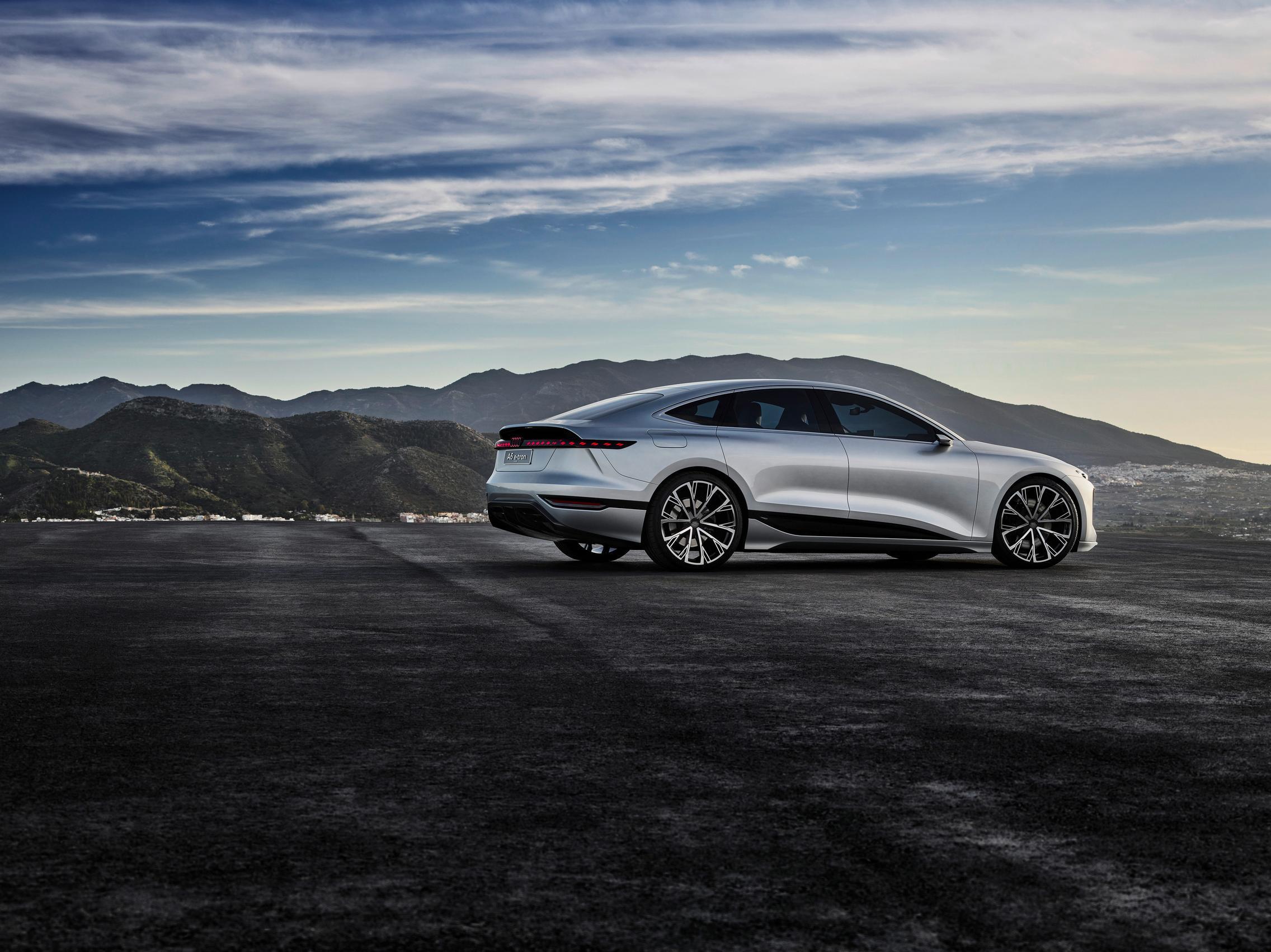 Helio Silver Audi A6 e-tron concept