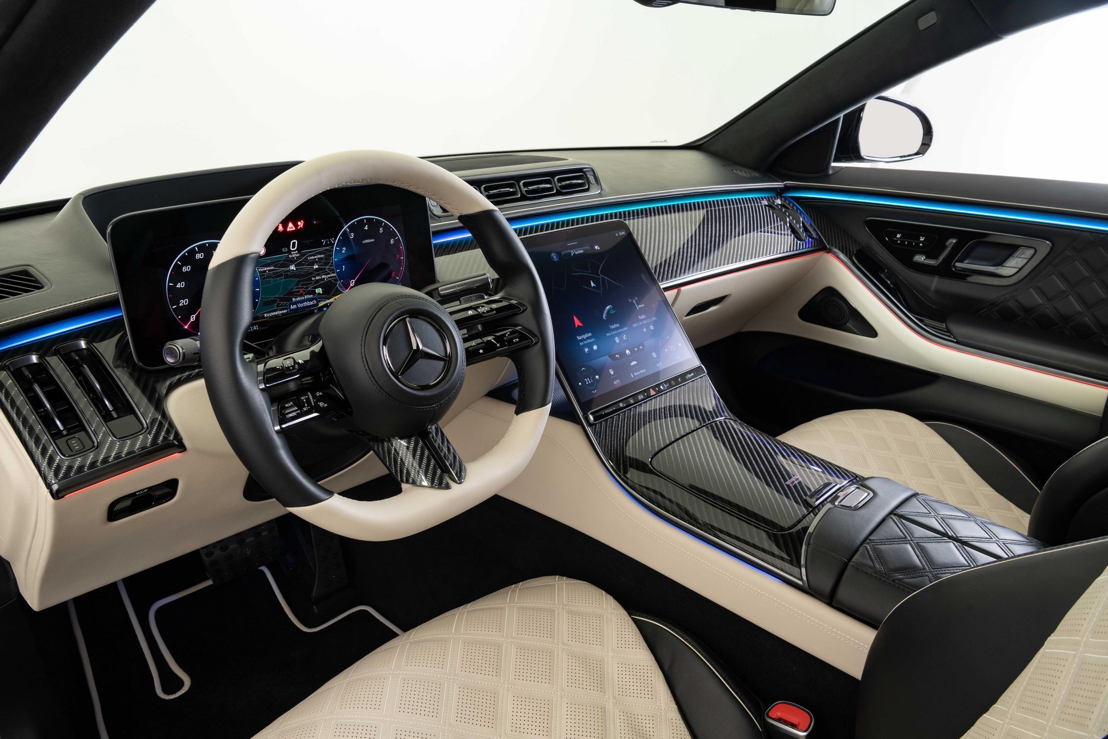 Brabus S-Class beige interior