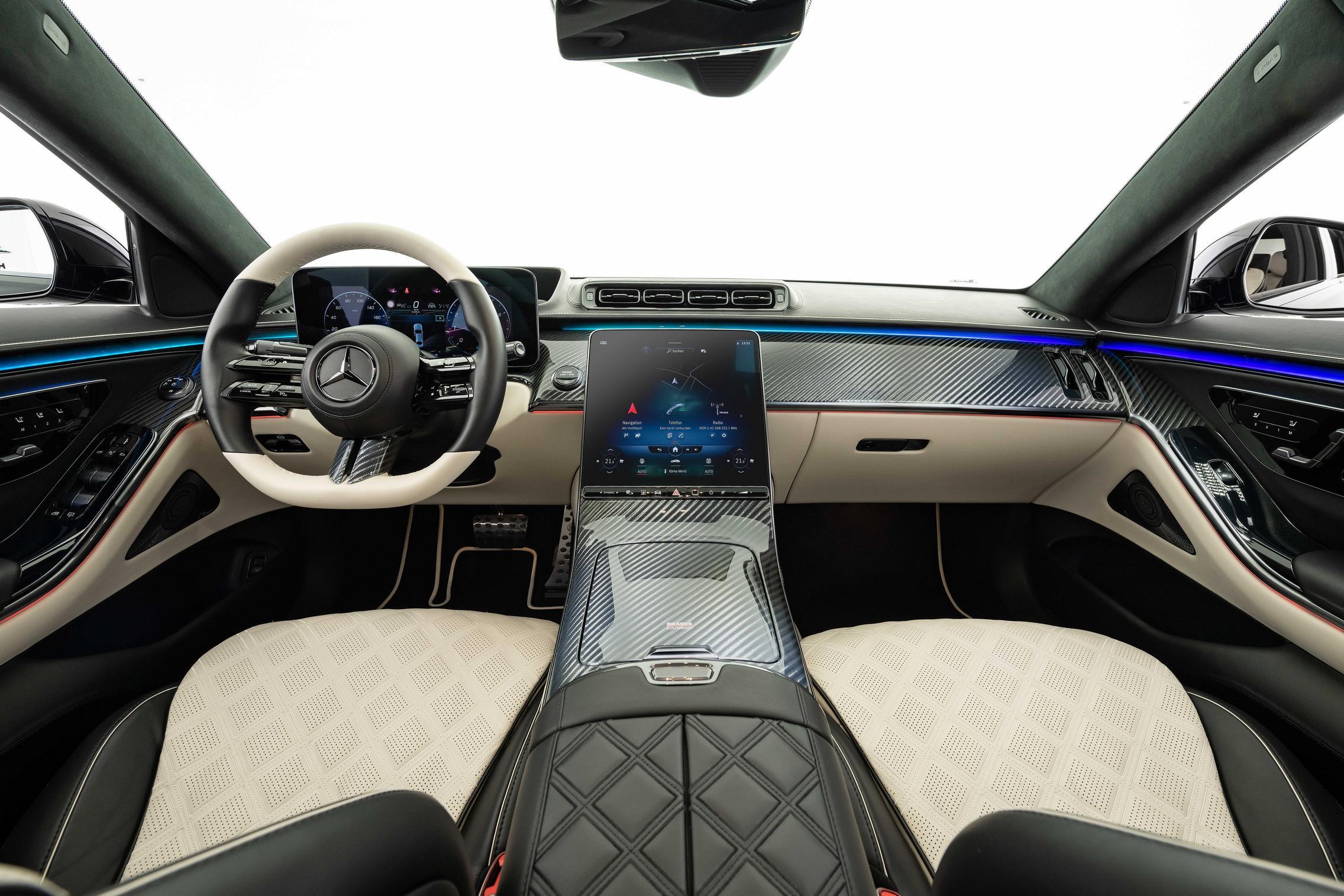 Brabus S Class interior screen