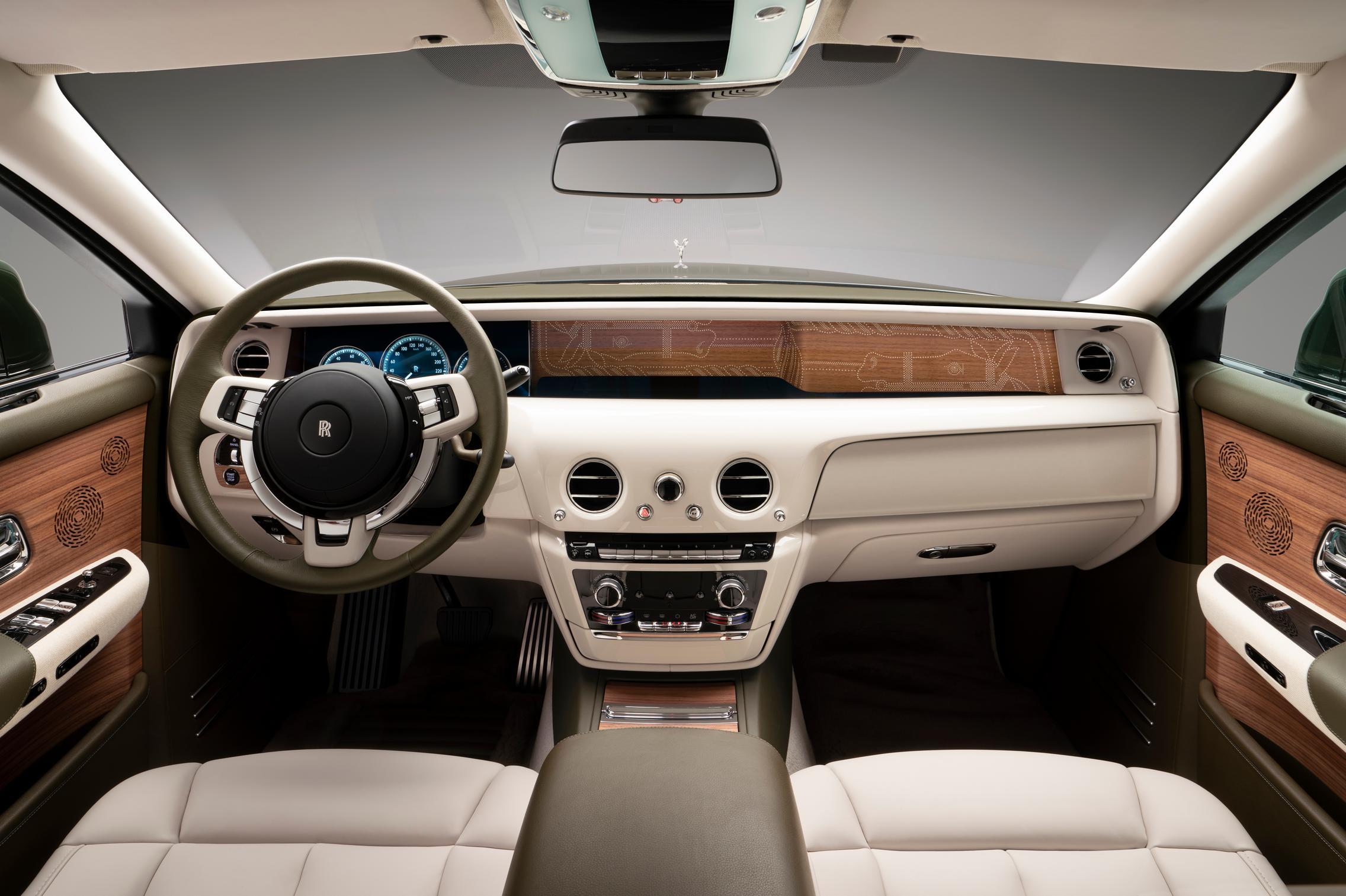 Hermes Rolls-Royce Phantom interior