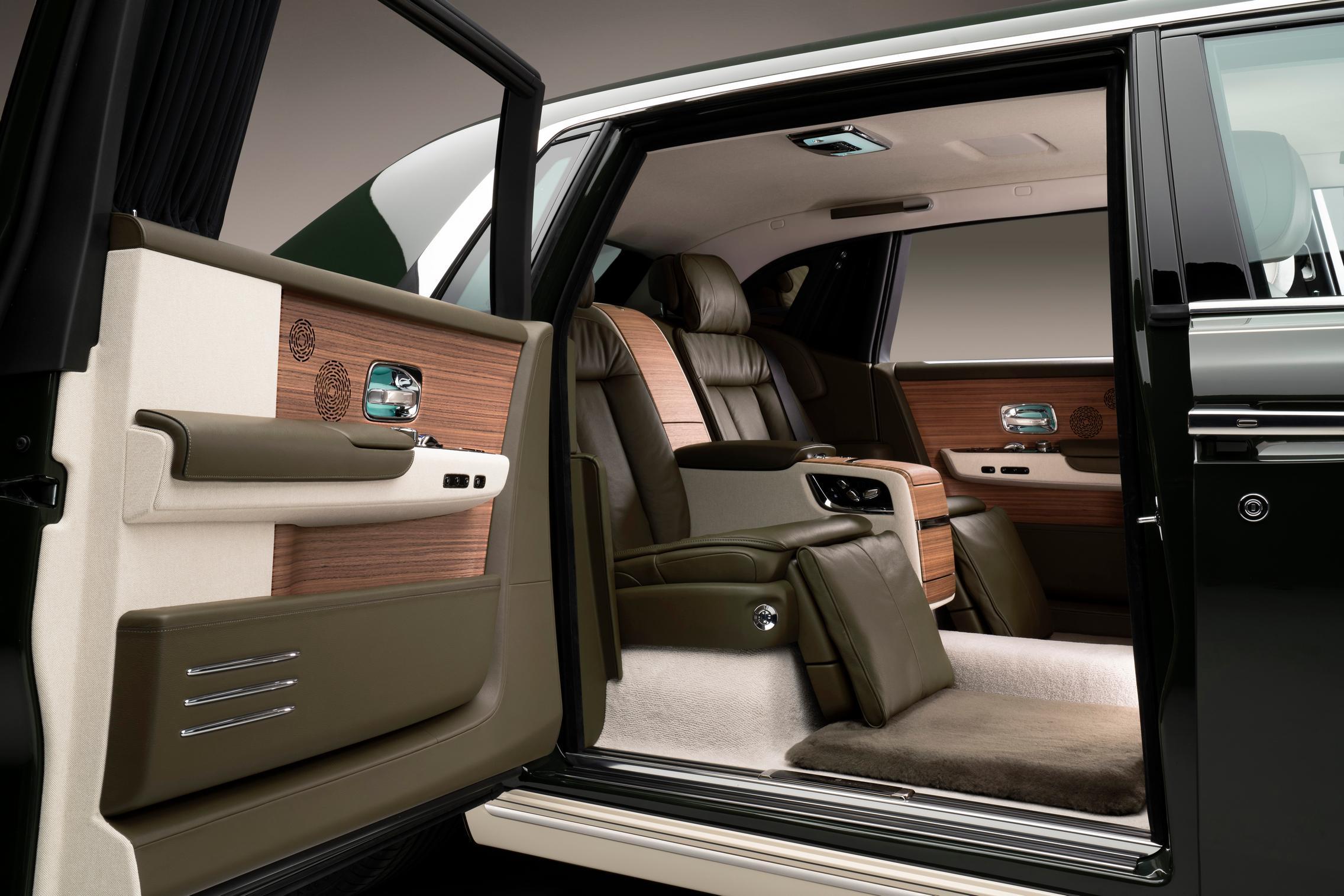 Hermes Rolls-Royce Phantom rear seats