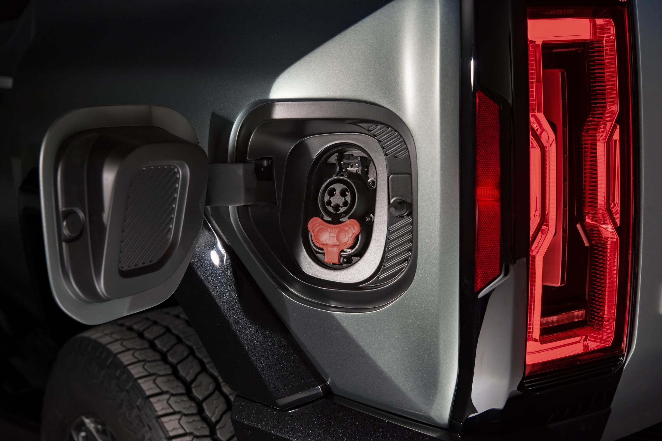 Hummer EV SUV charge port