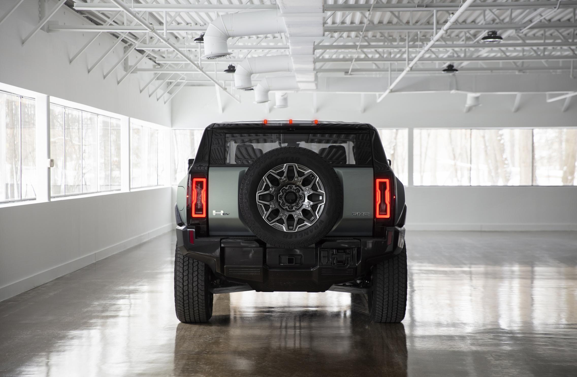 Hummer EV SUV rear lights