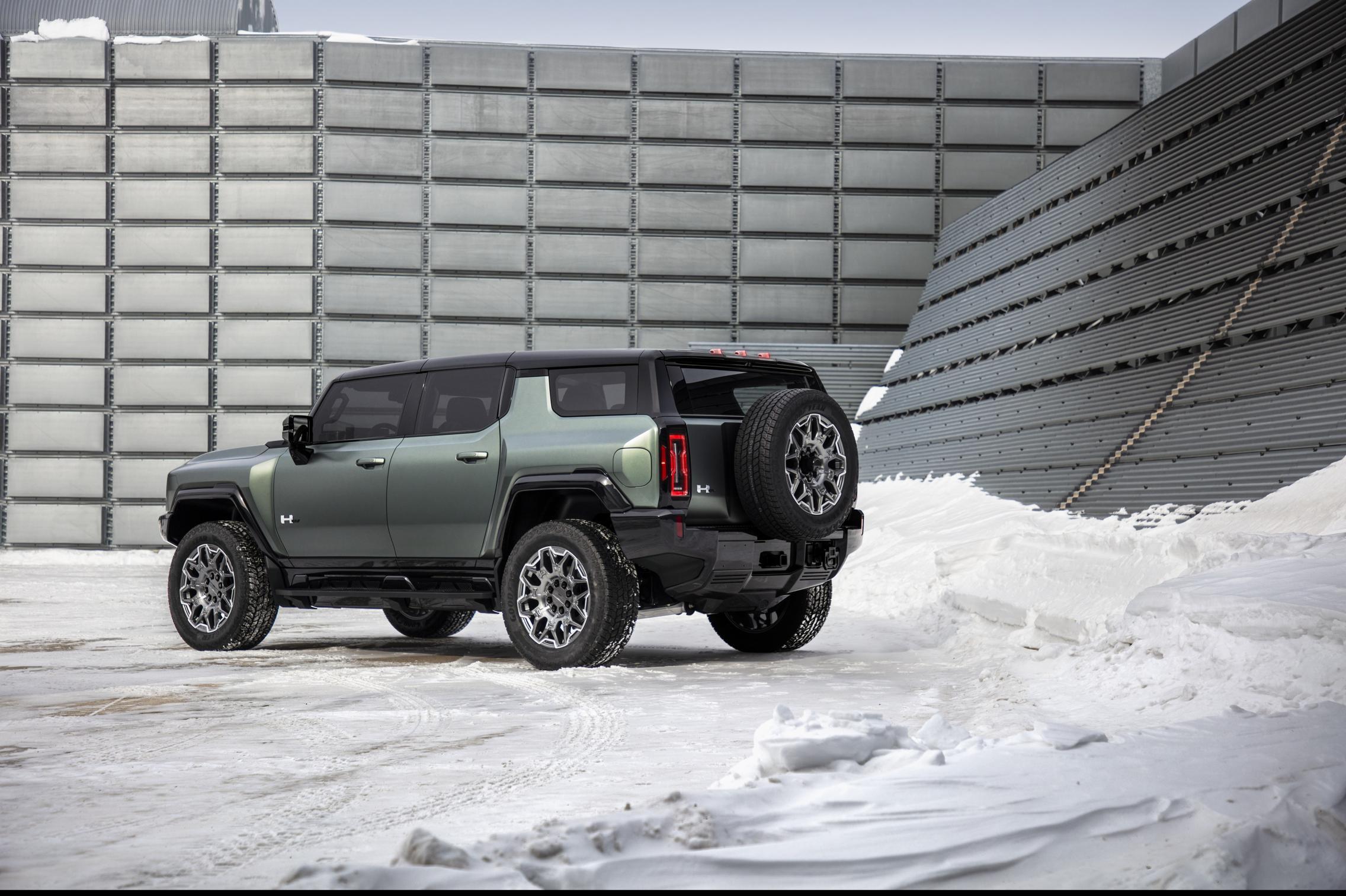 Hummer EV SUV rear