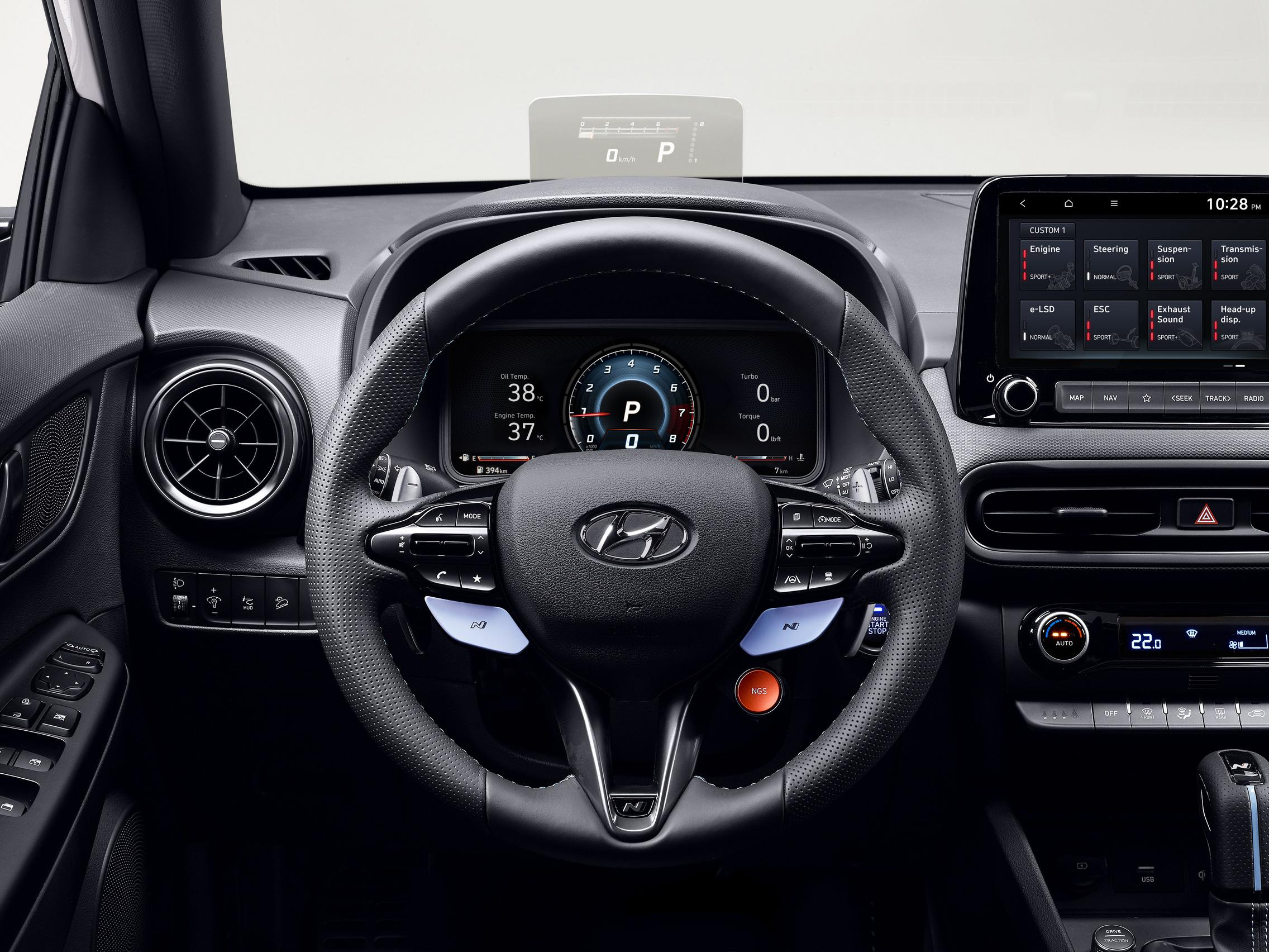 Hyundai Kona N steering wheel
