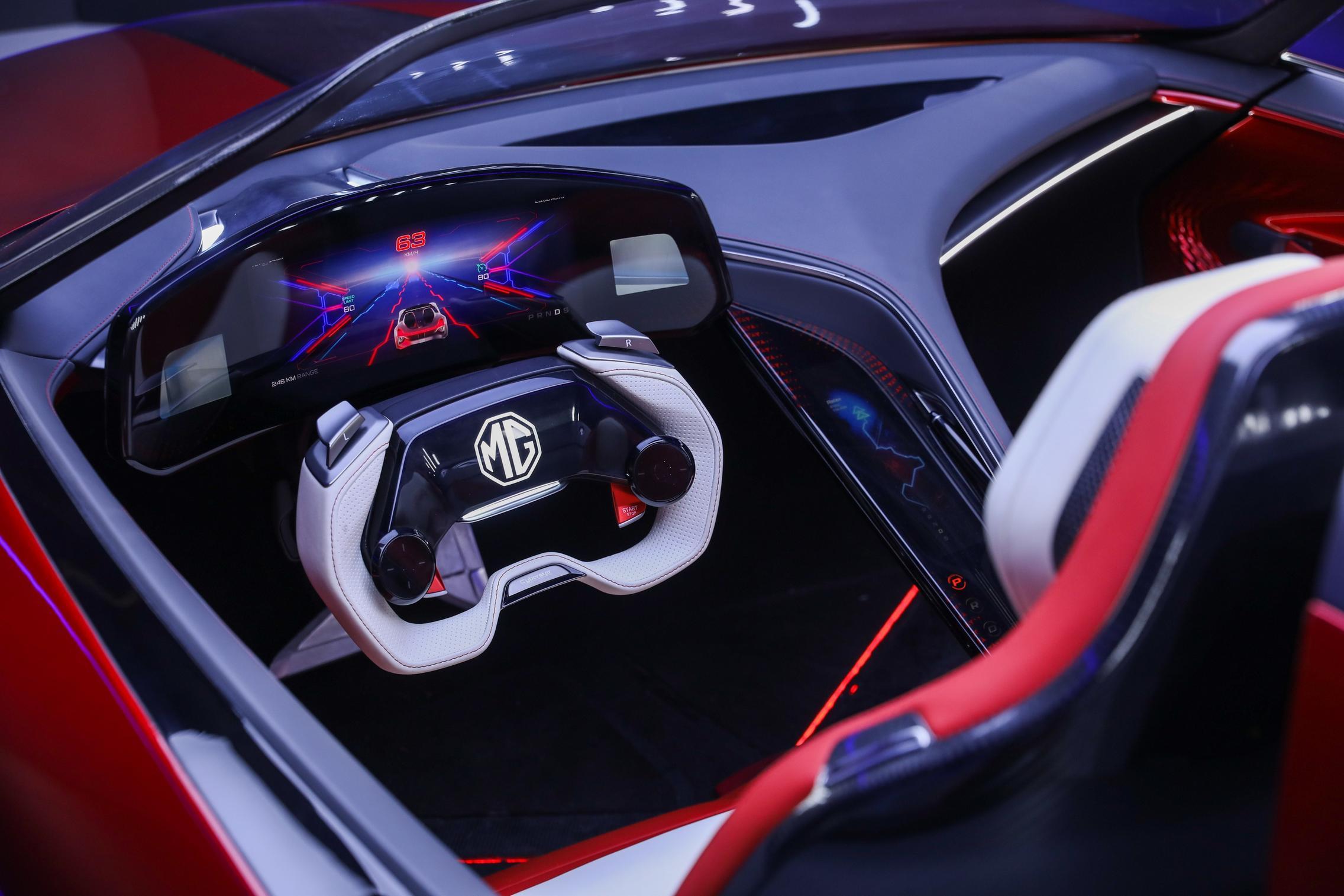 MG Cyberster steering wheel