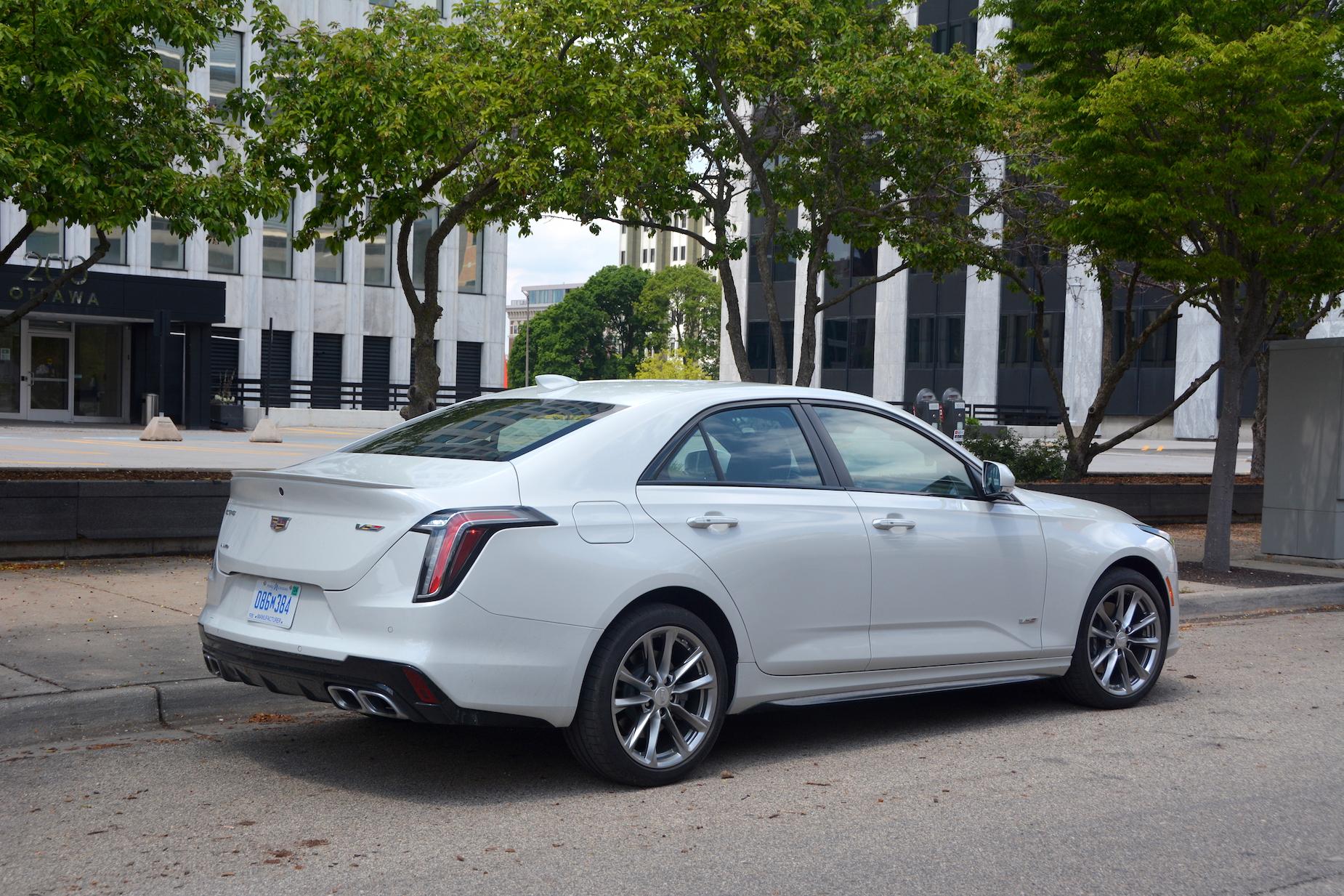 2021 Cadillac CT4-V rear quarter