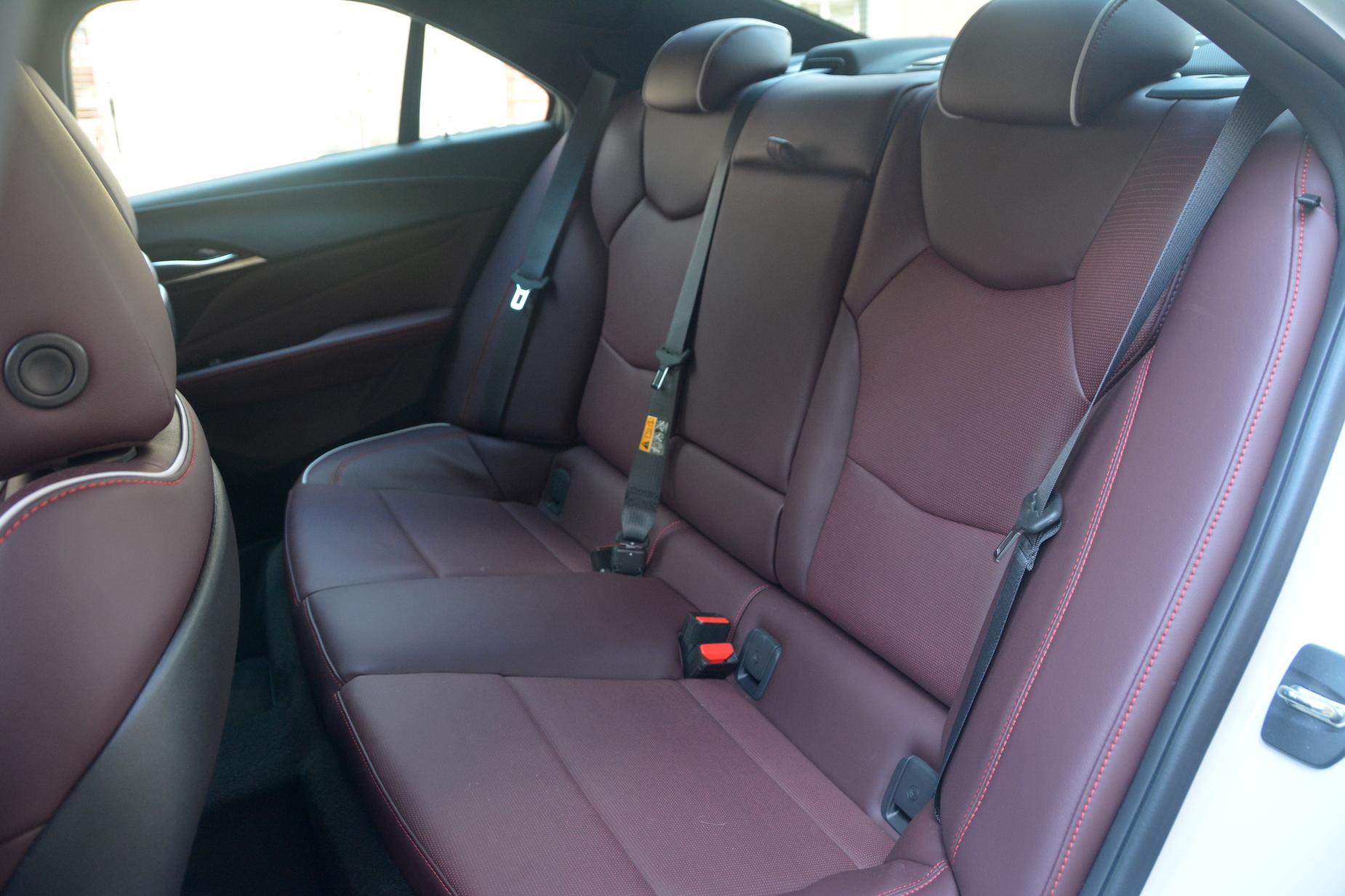 2021 Cadillac CT4-V rear seats