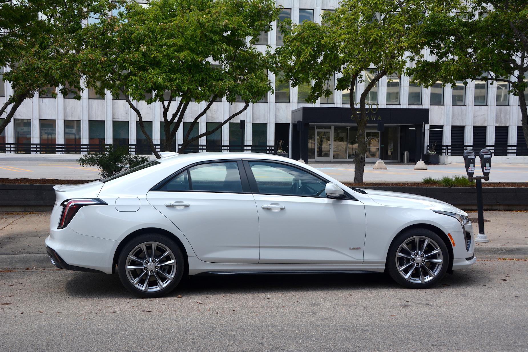 2021 Cadillac CT4-V side