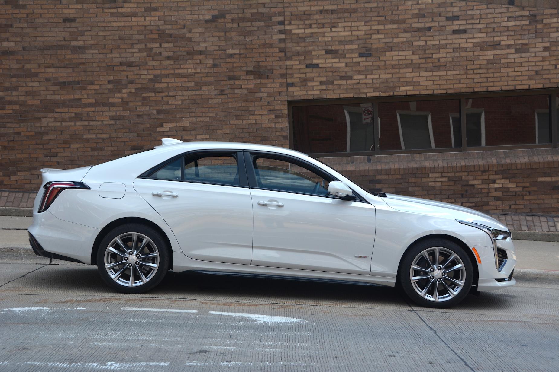 2021 Cadillac CT4-V white
