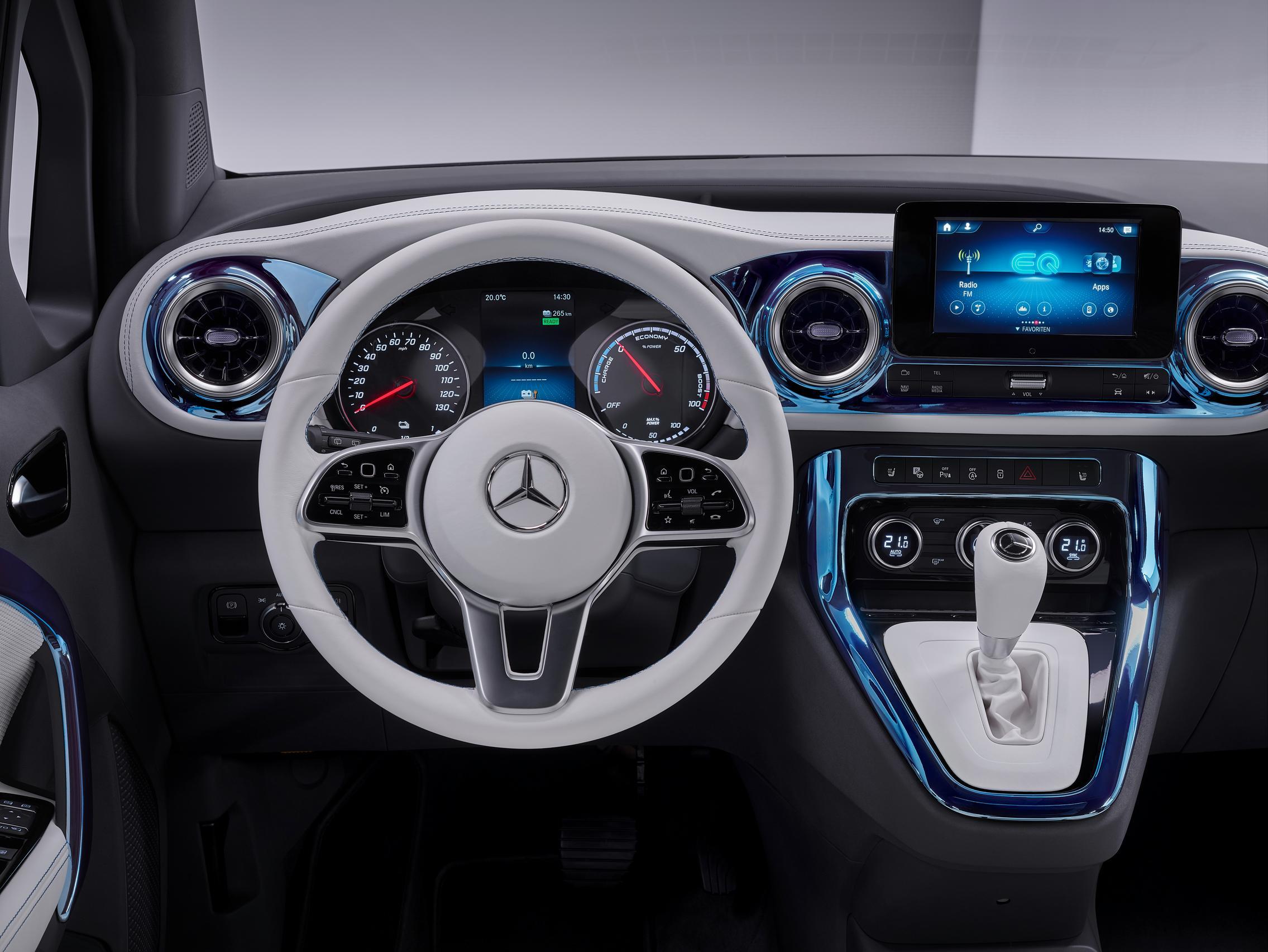 2022 Mercedes-Benz EQT steering wheel