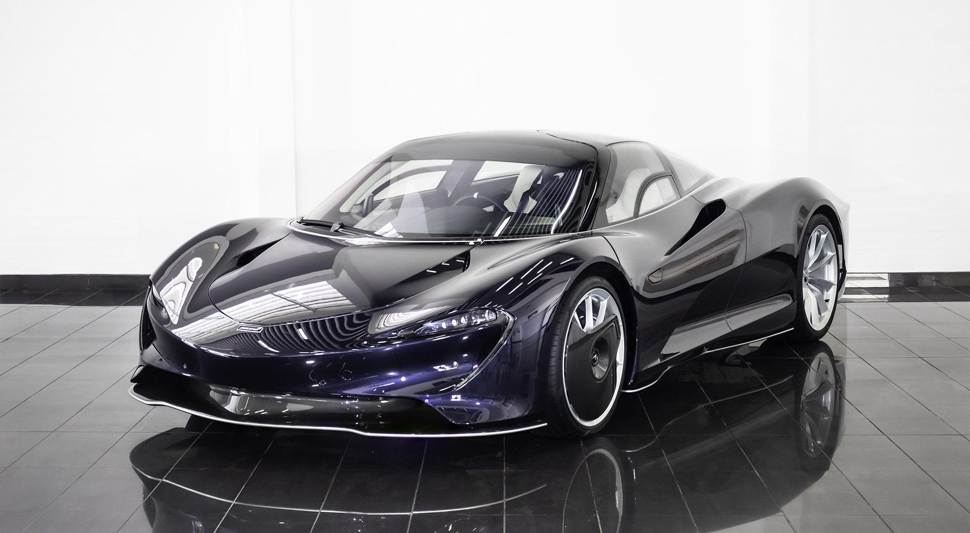 Blue McLaren Speedtail
