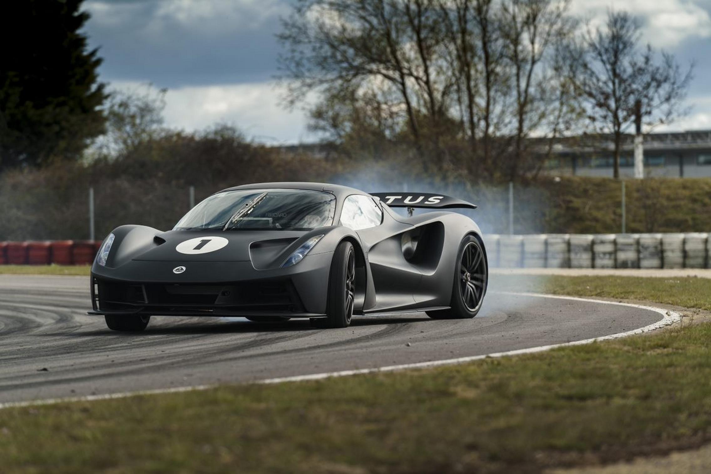 Lotus Evija track