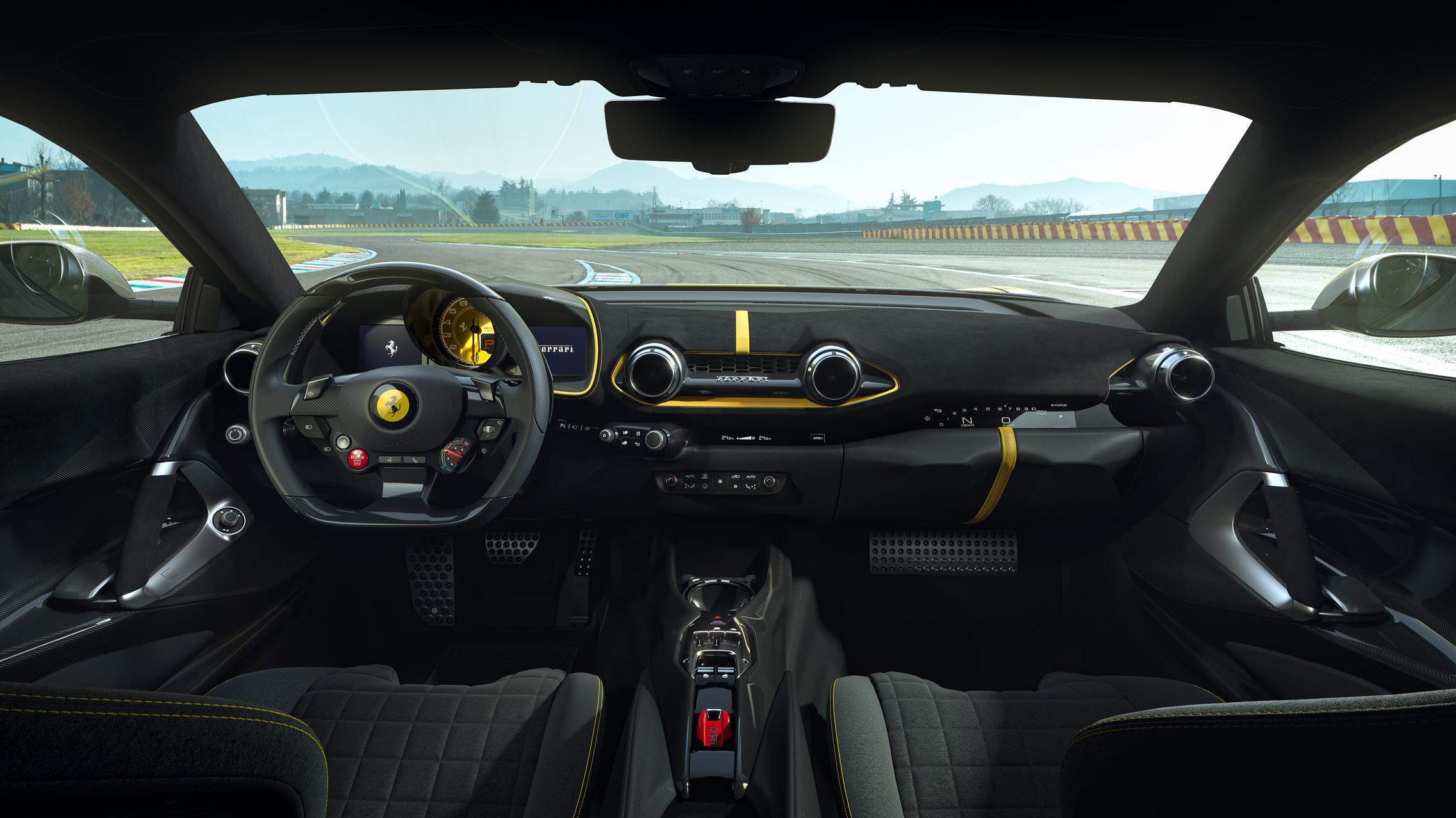 Ferrari 812 Competizione A interior