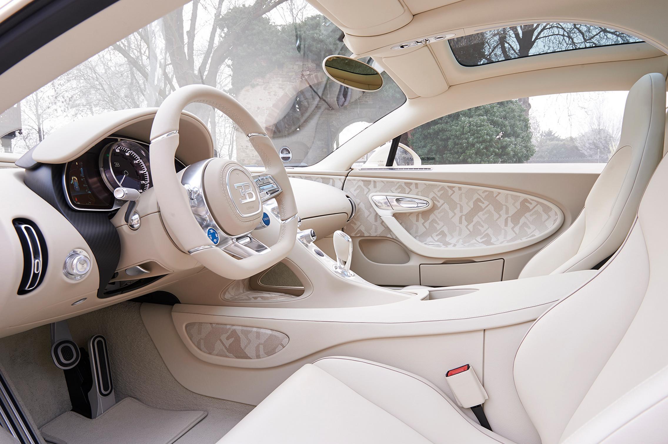 Hermes Bugatti Chiron interior