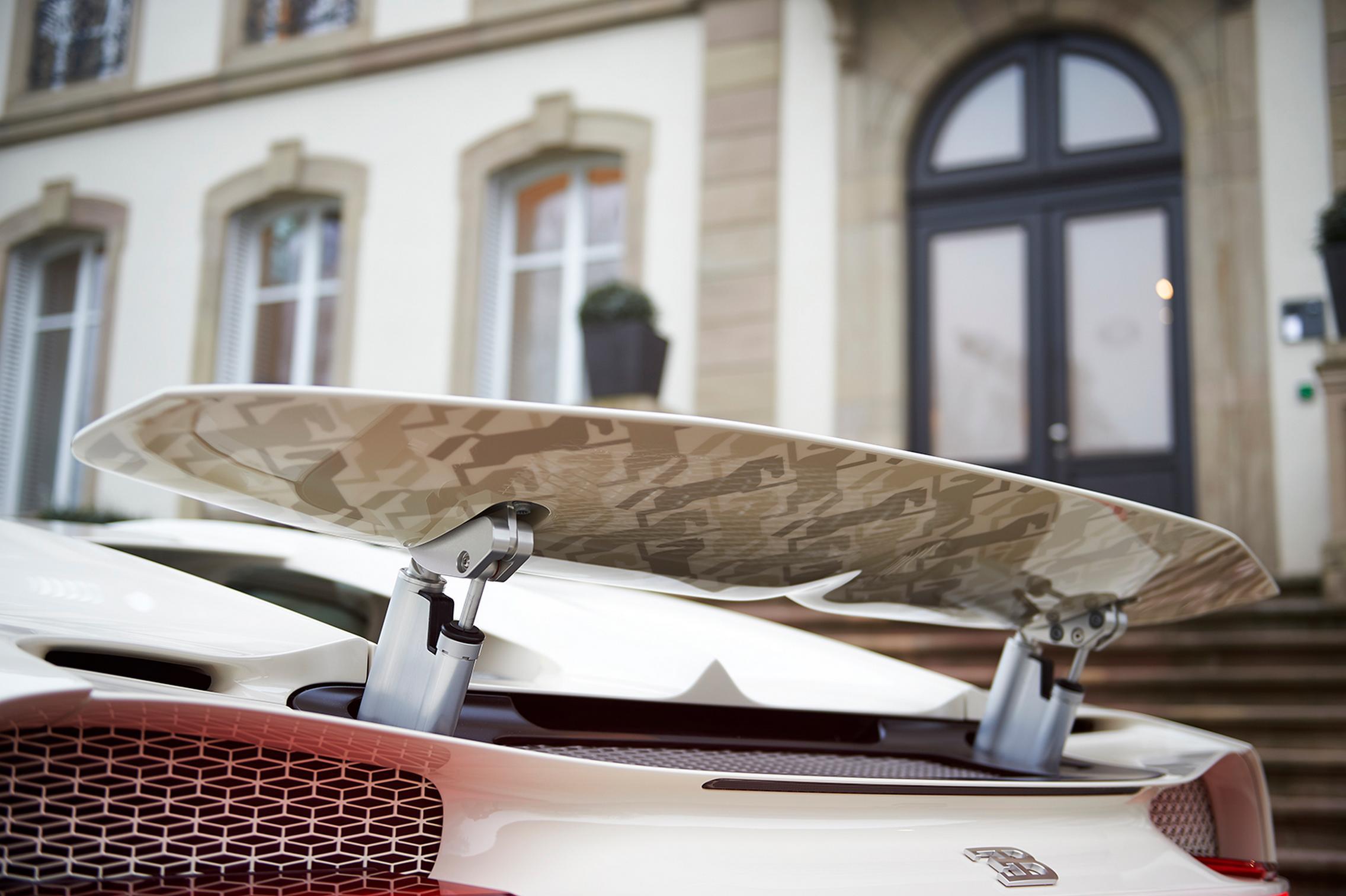 Hermes Bugatti Chiron rear wing