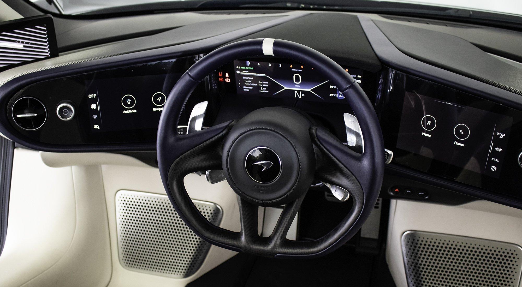 McLaren Speedtail steering wheel