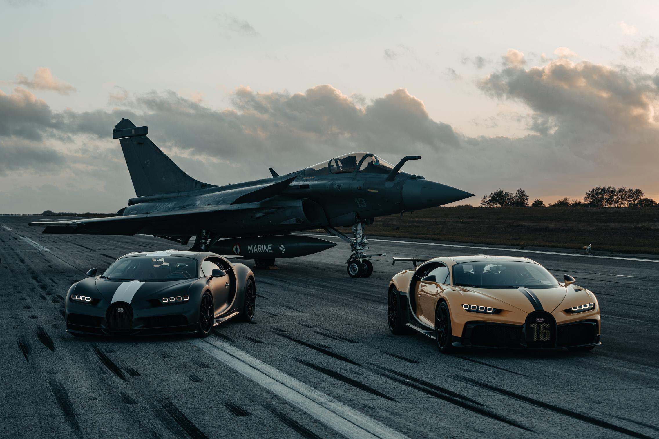 Yellow Bugatti Chiron Pur Sport