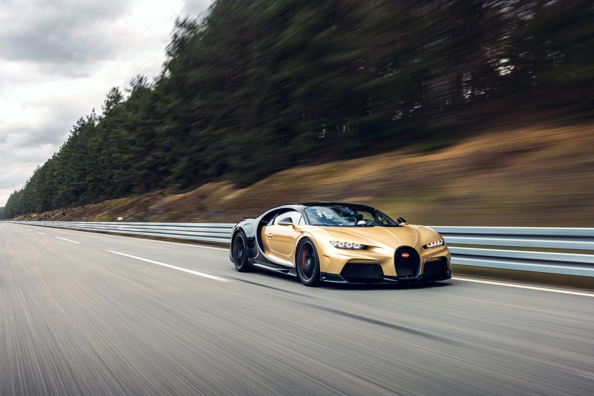Gold Bugatti Chiron Super Sport