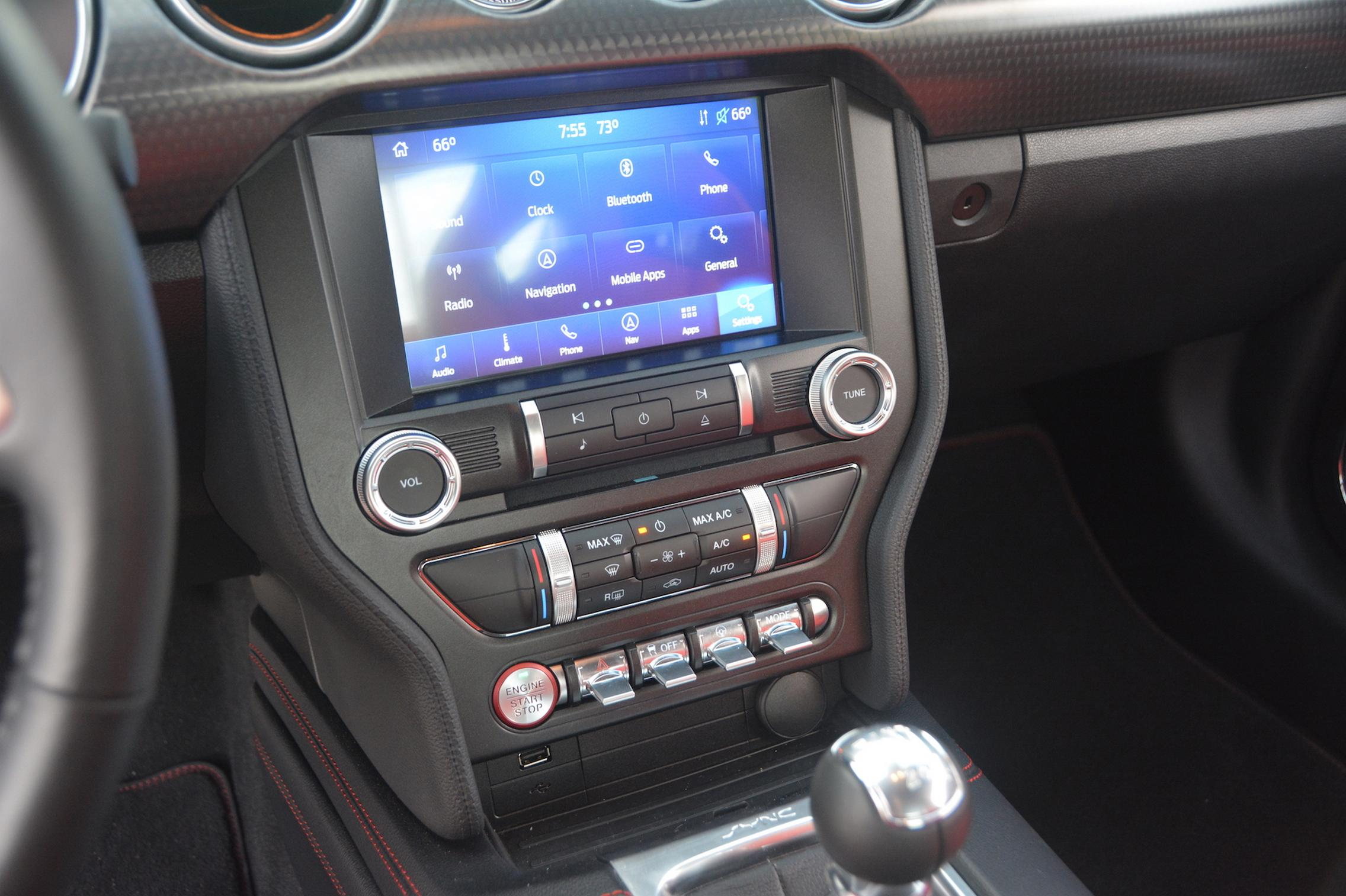 2021 Ford Mustang EcoBoost infotainment