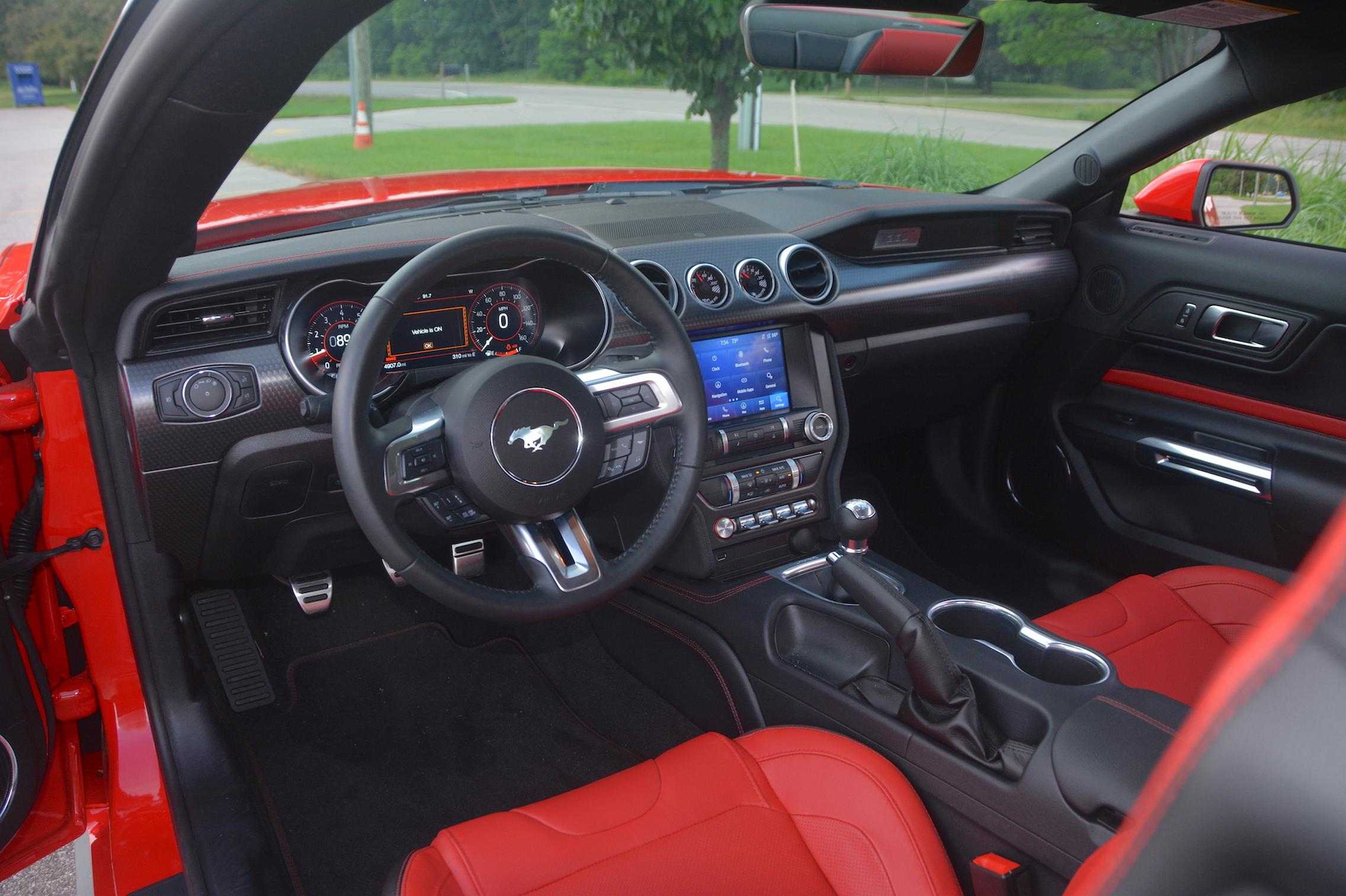 2021 Ford Mustang EcoBoost interior