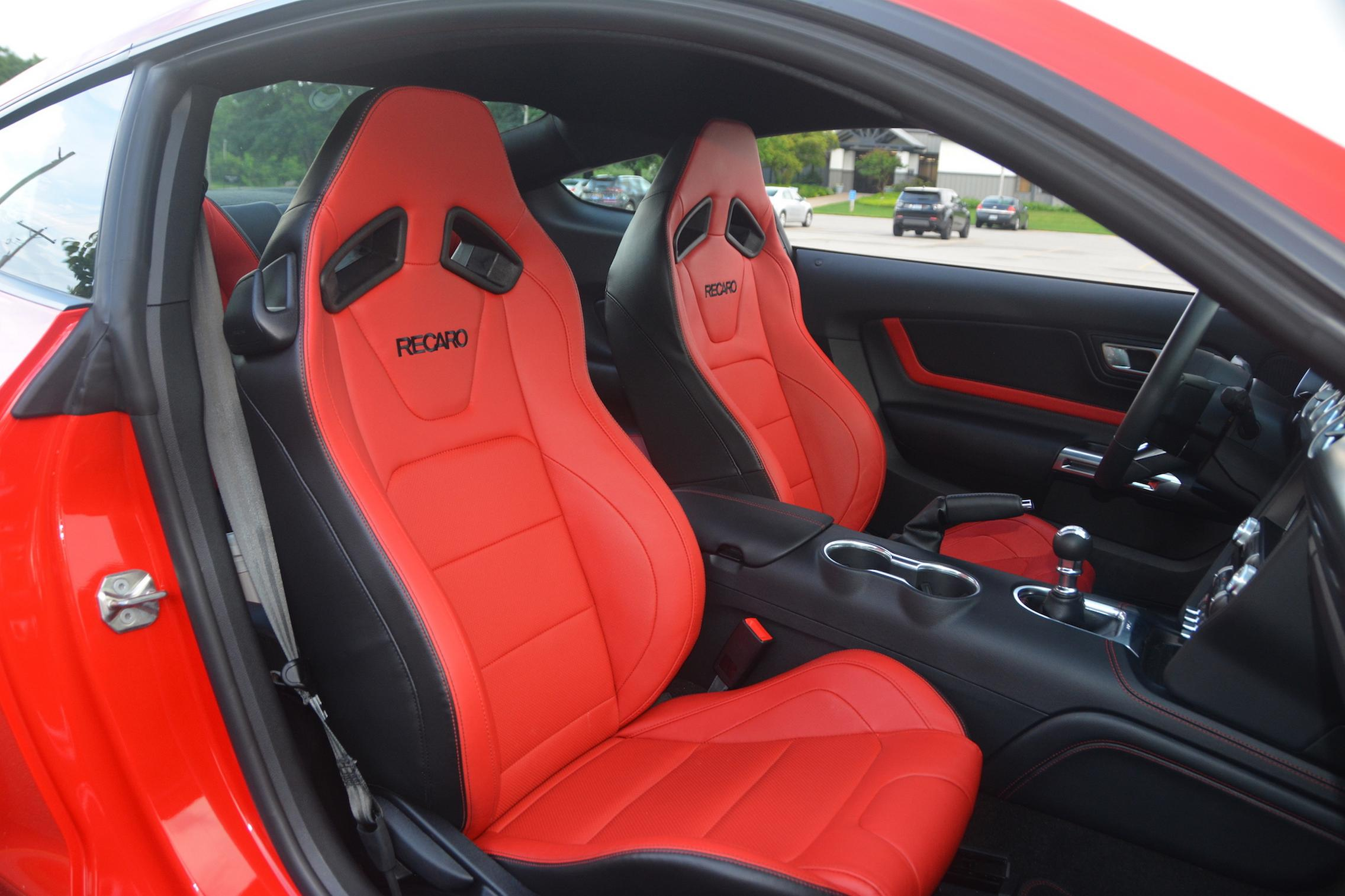 2021 Ford Mustang EcoBoost red interior