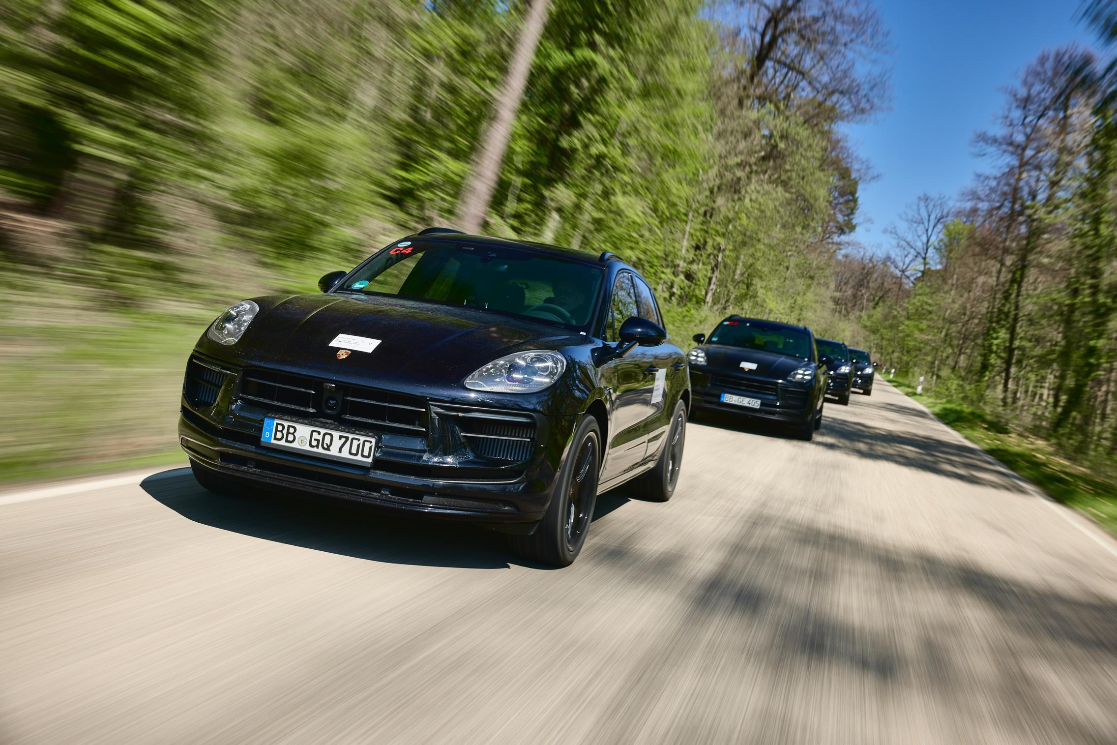 Porsche test cars