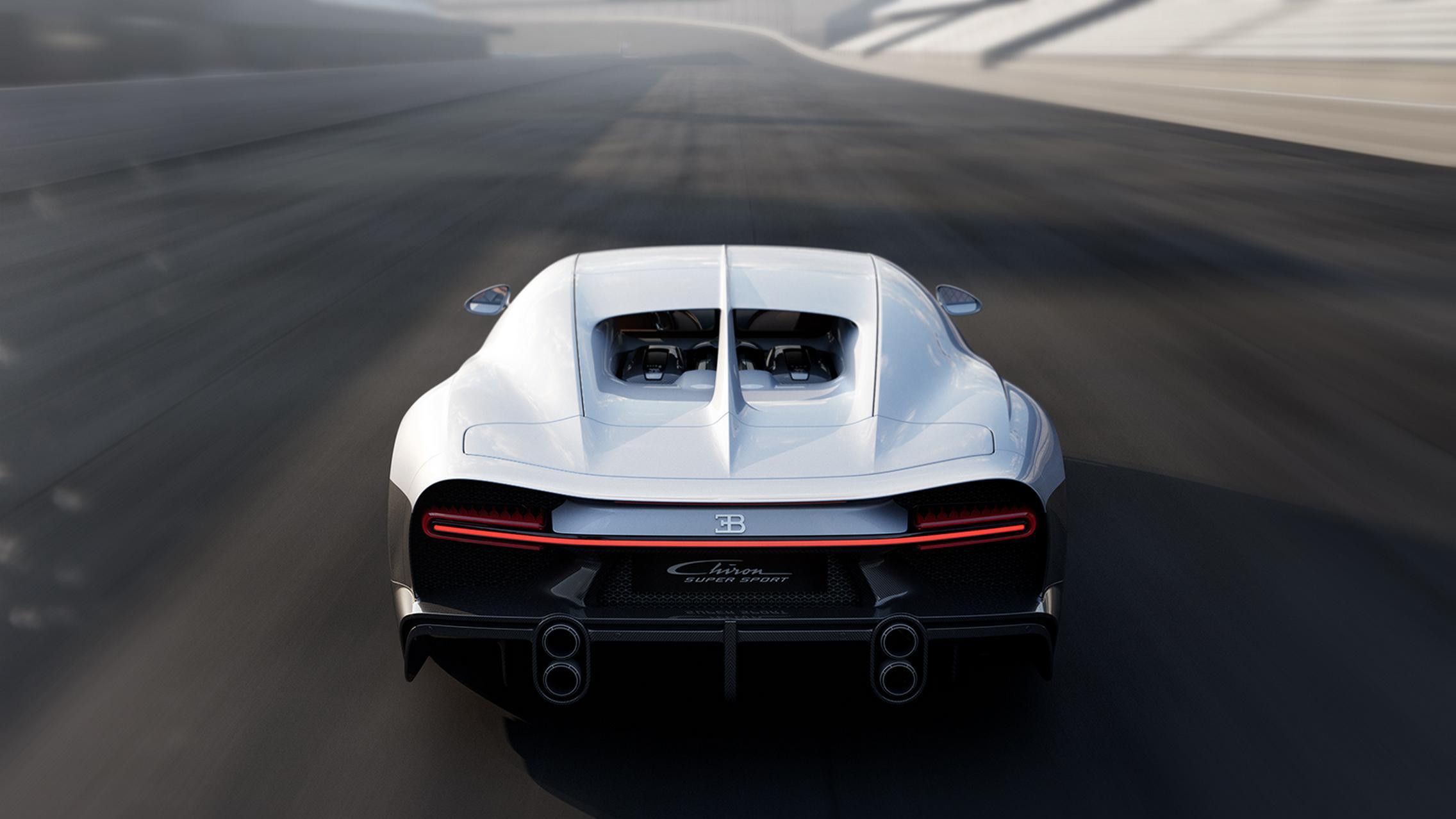 Bugatti Chiron Super Sport exhaust