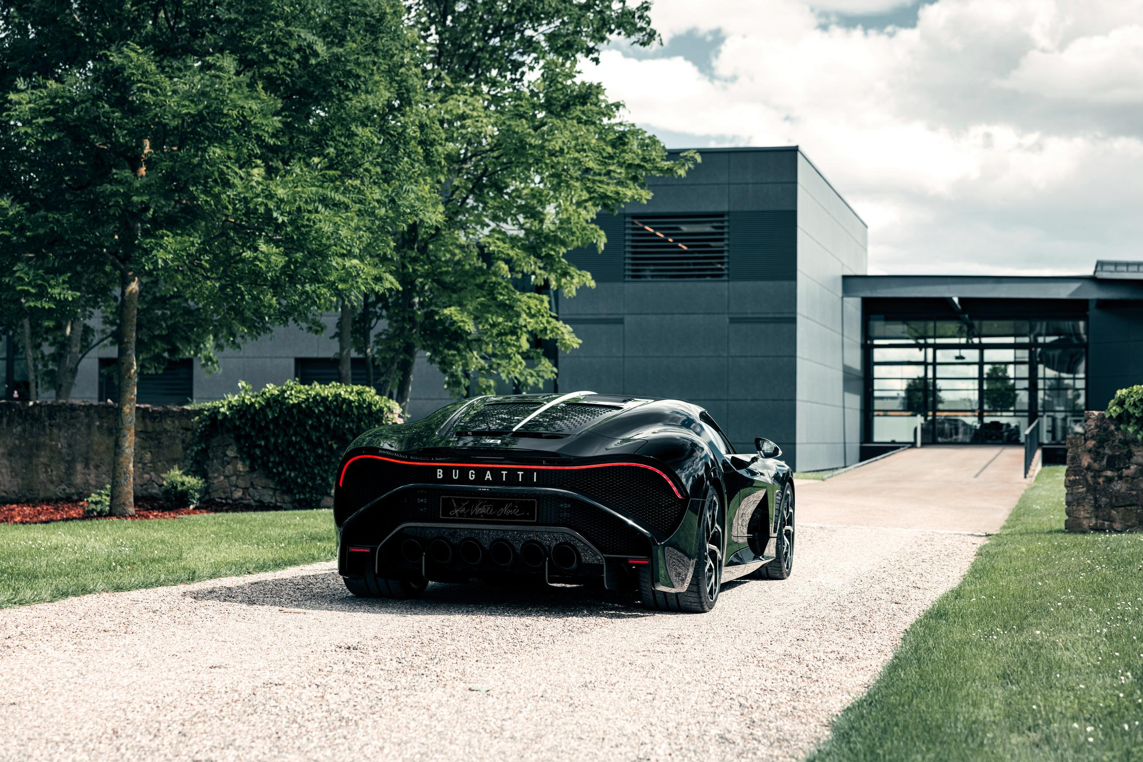 Bugatti La Voiture Noire rear lights