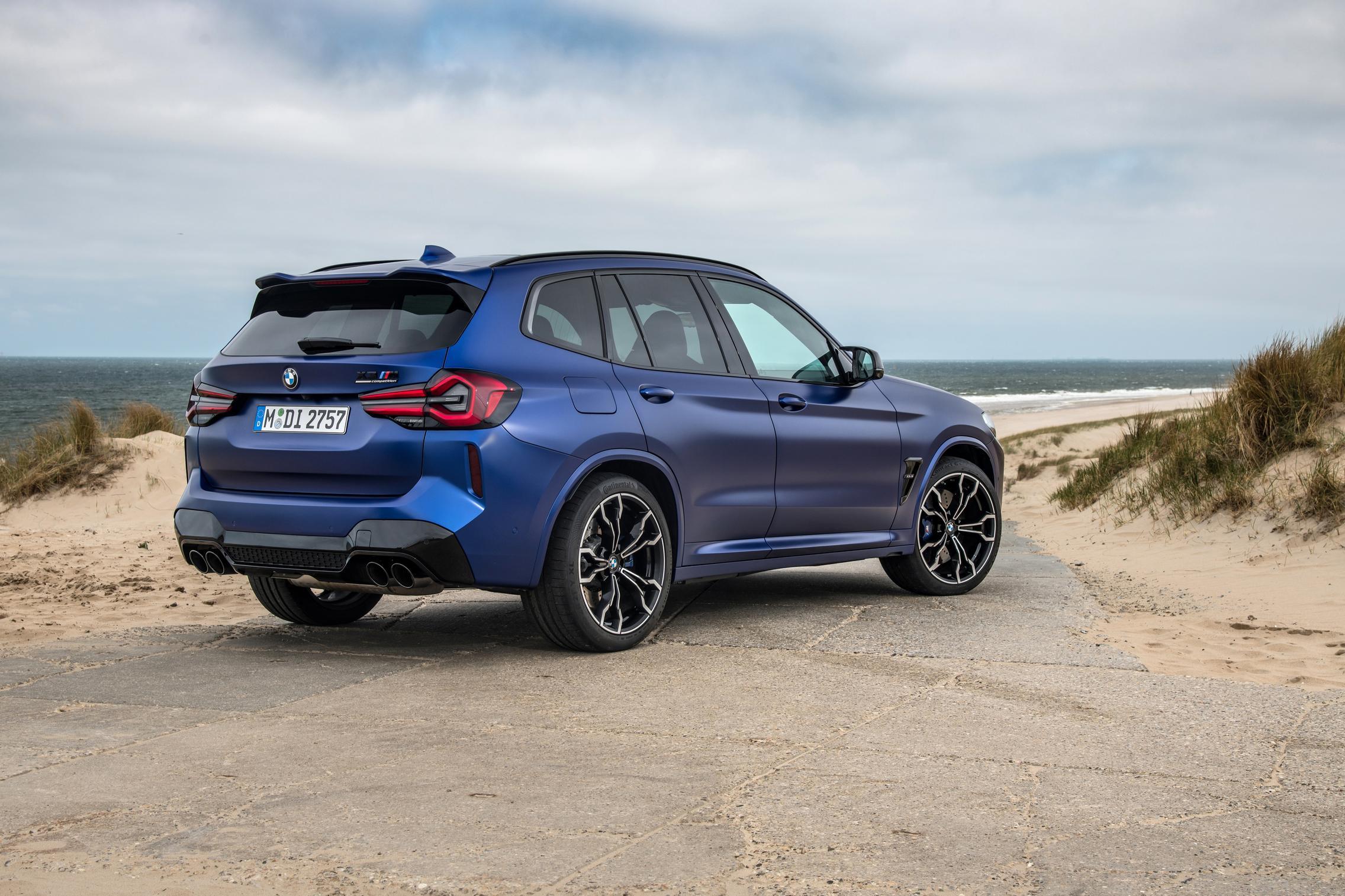 BMW X3 M Competition rear quarter
