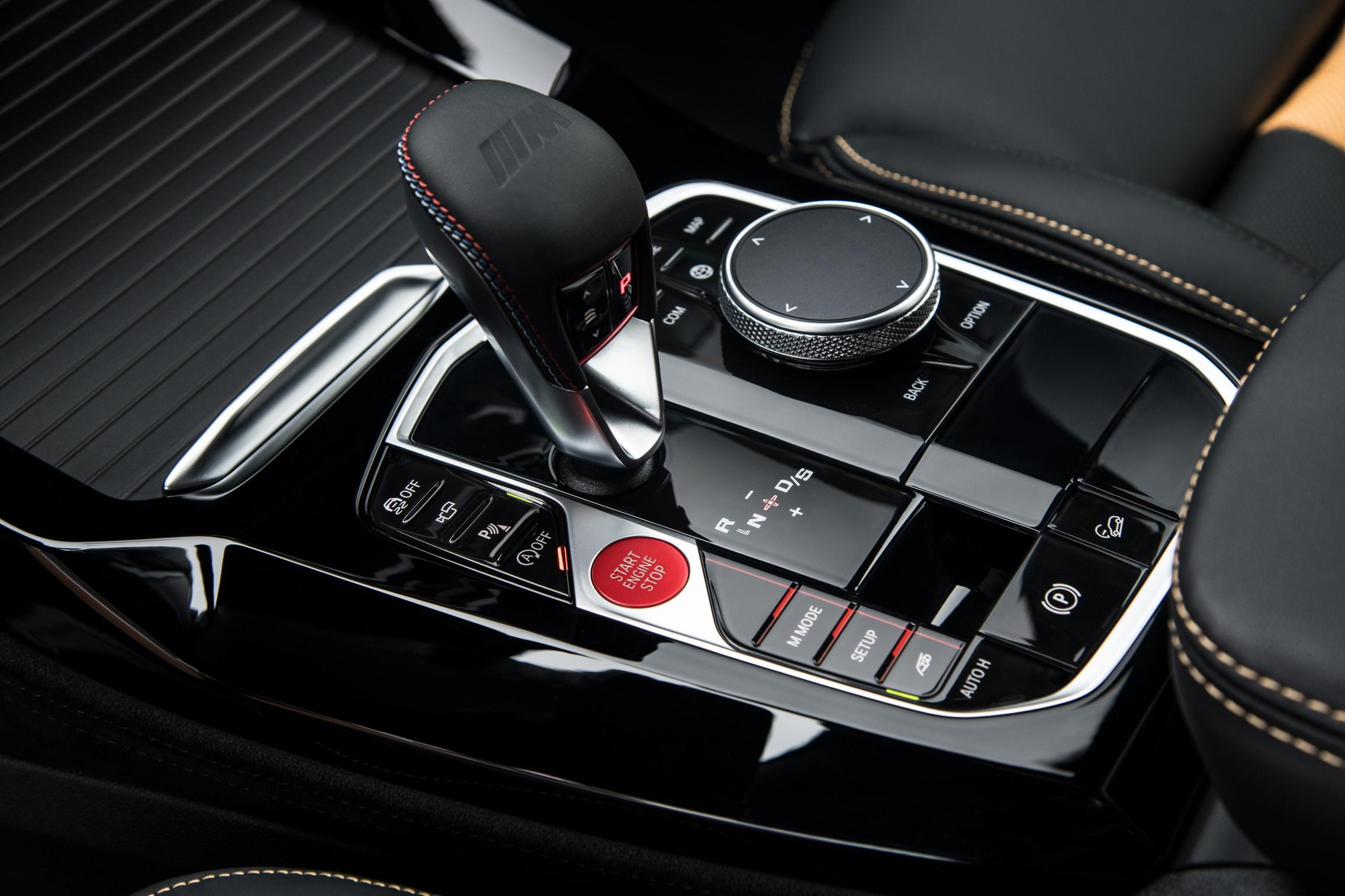 BMW X3 M Competition center console
