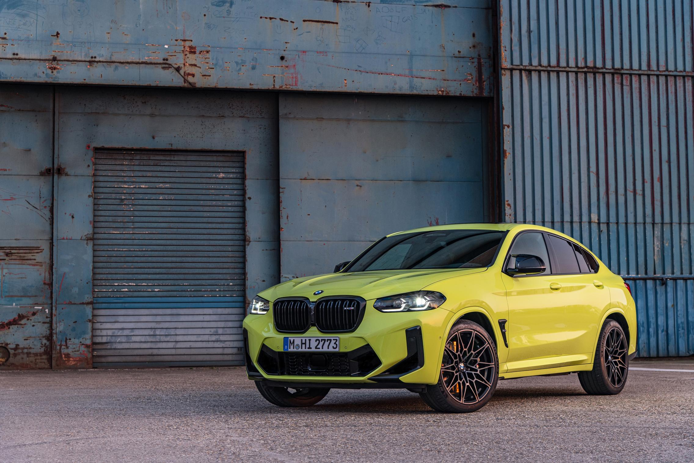 Yellow BMW X4 M Competition