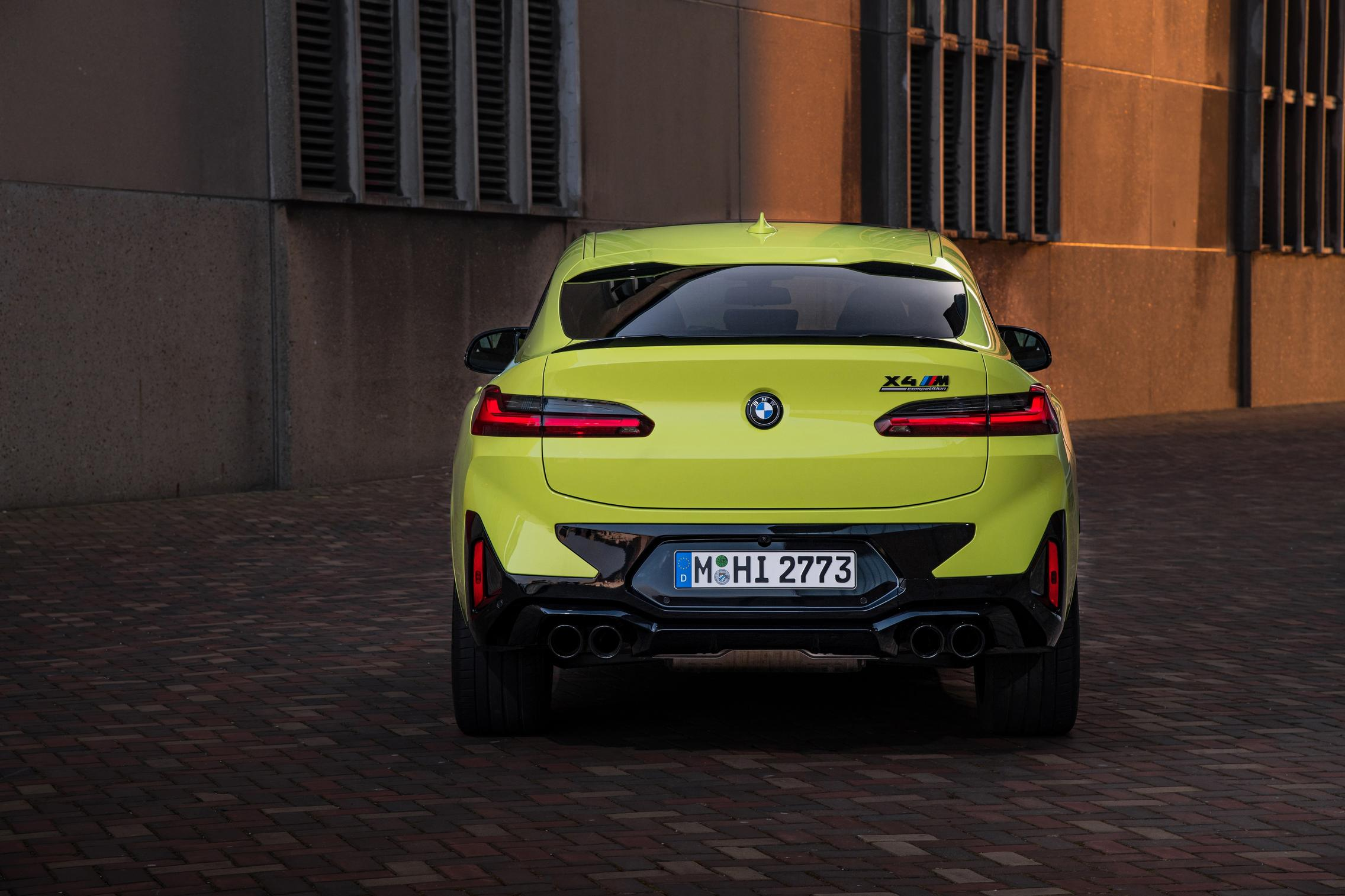 BMW X4 M Competition taillights