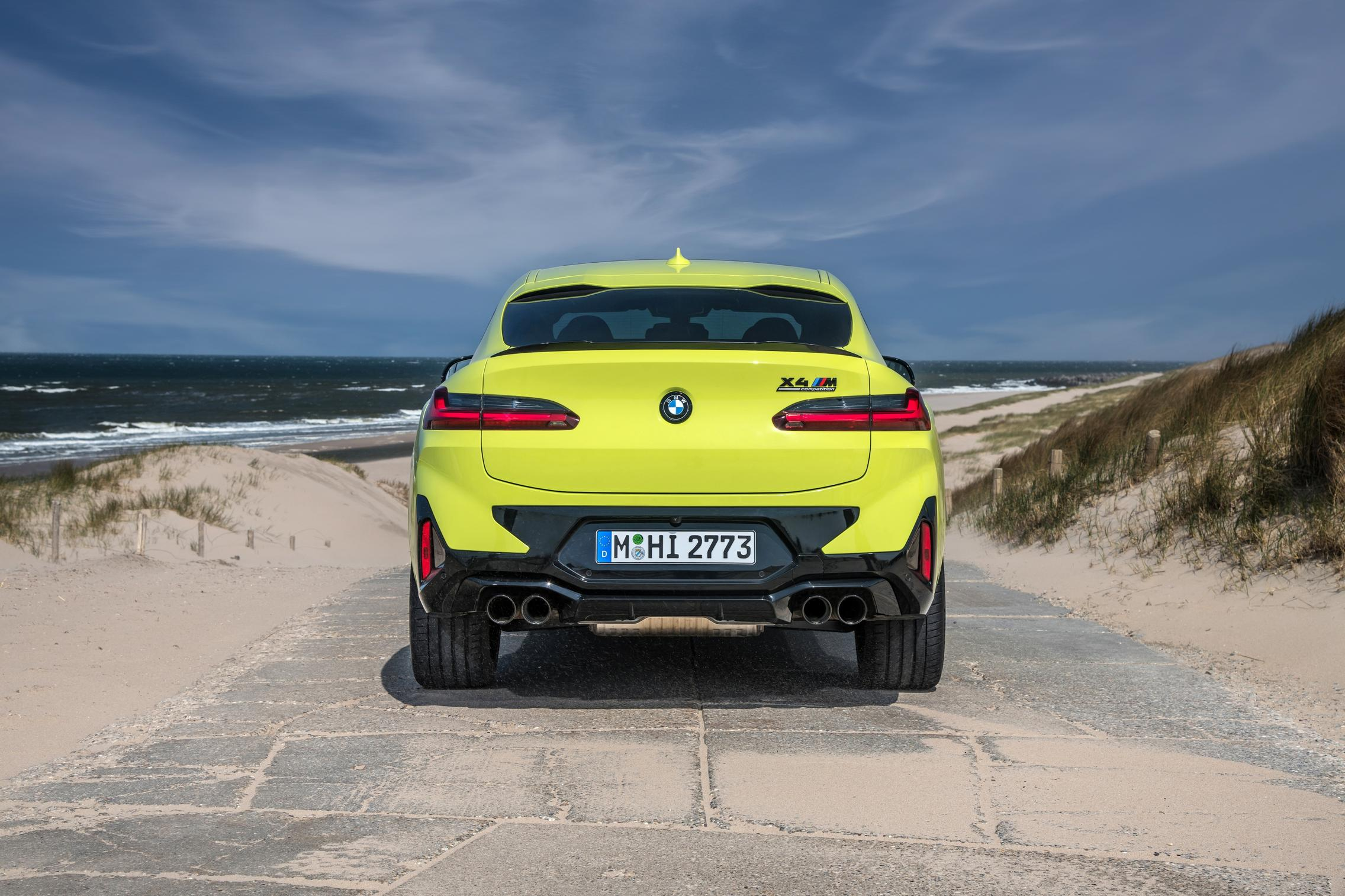 X4 M Competition rear view