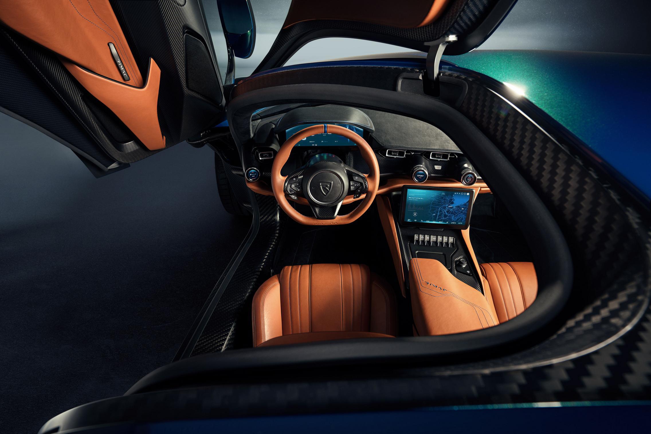 Rimac Nevera steering wheel