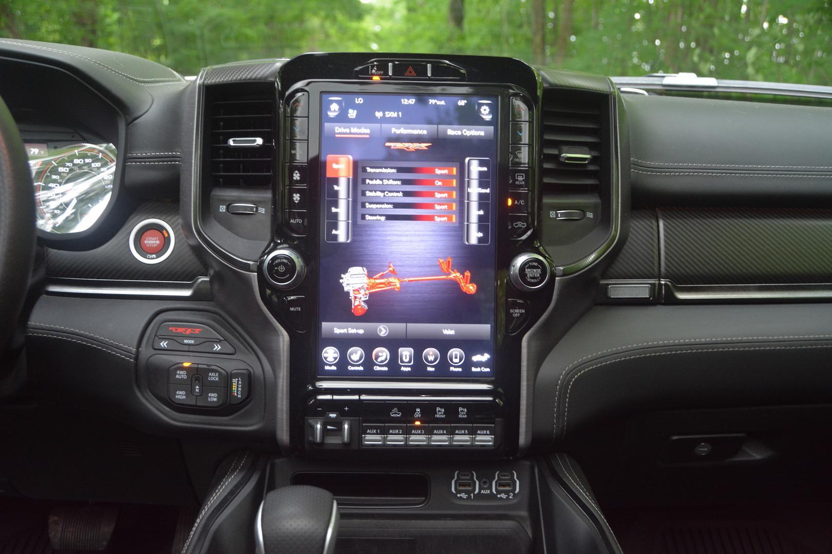 2021 Ram 1500 TRX screen