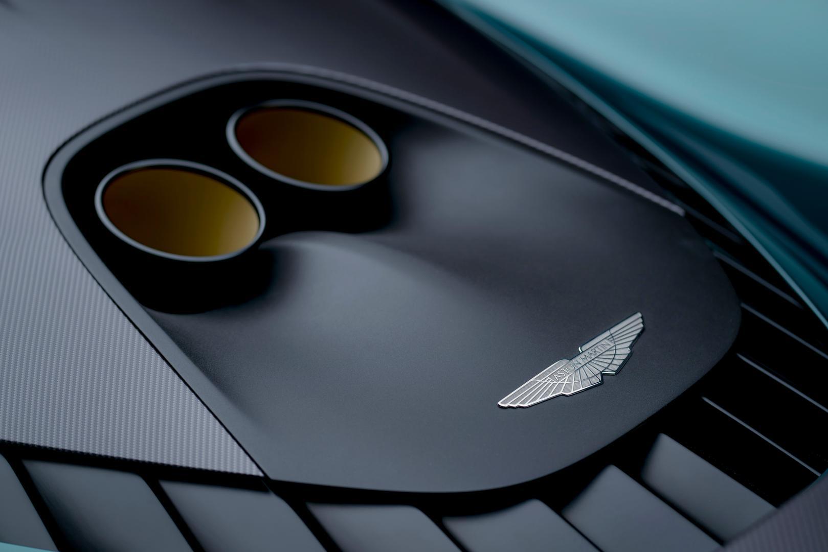 Aston Martin Valhalla exhaust pipes