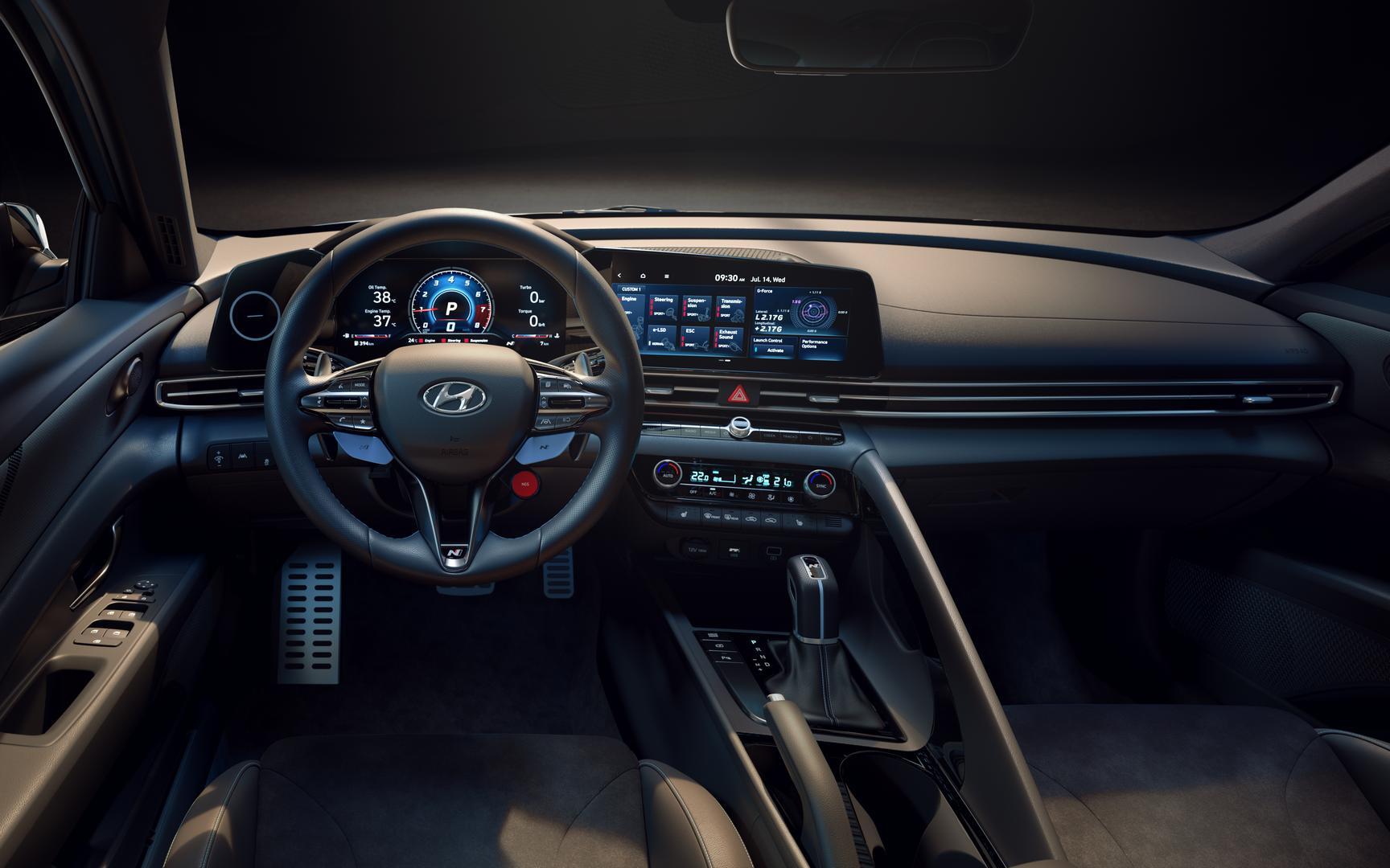 Hyundai Elantra N steering wheel