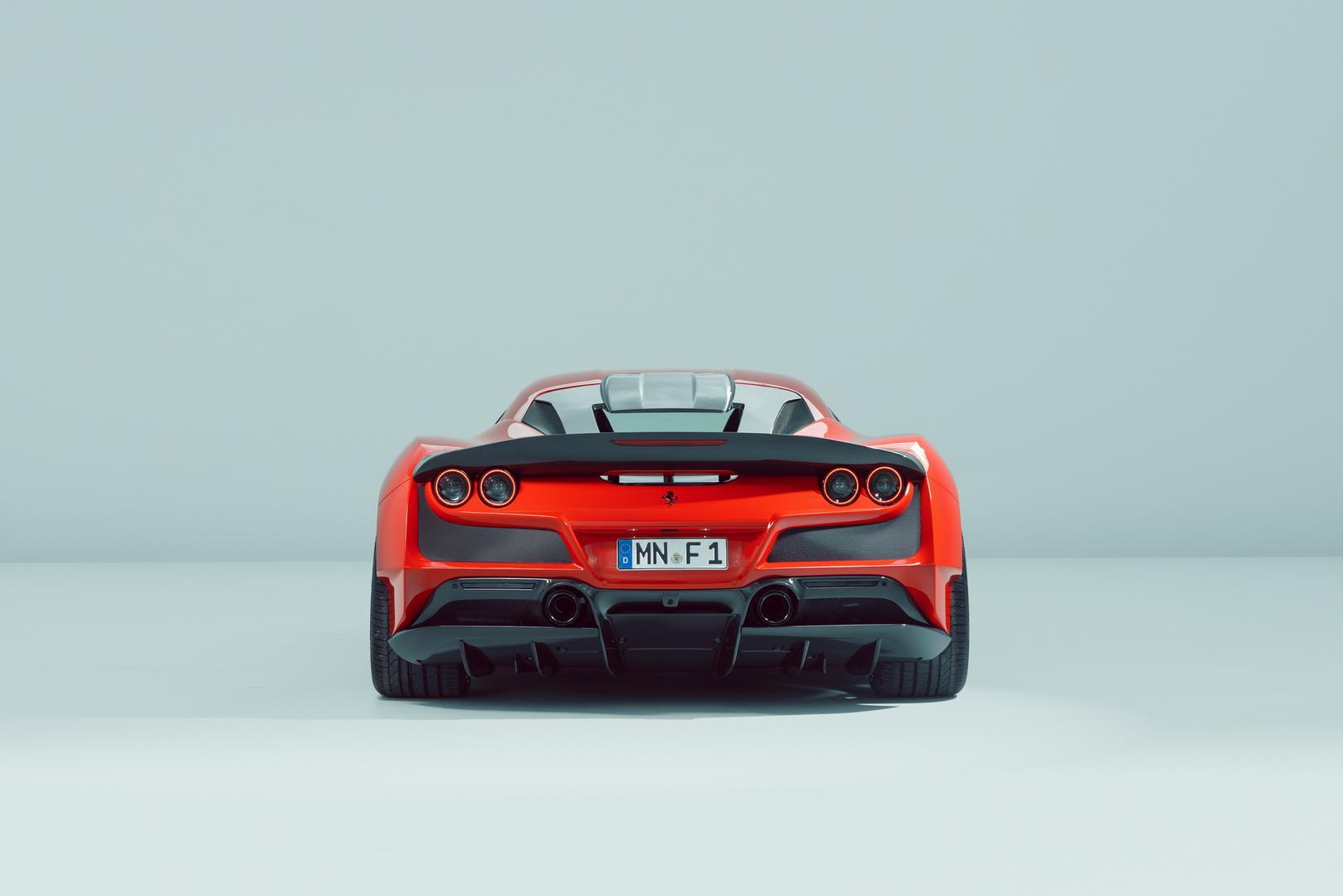 Ferrari F8 Tributo exhaust system