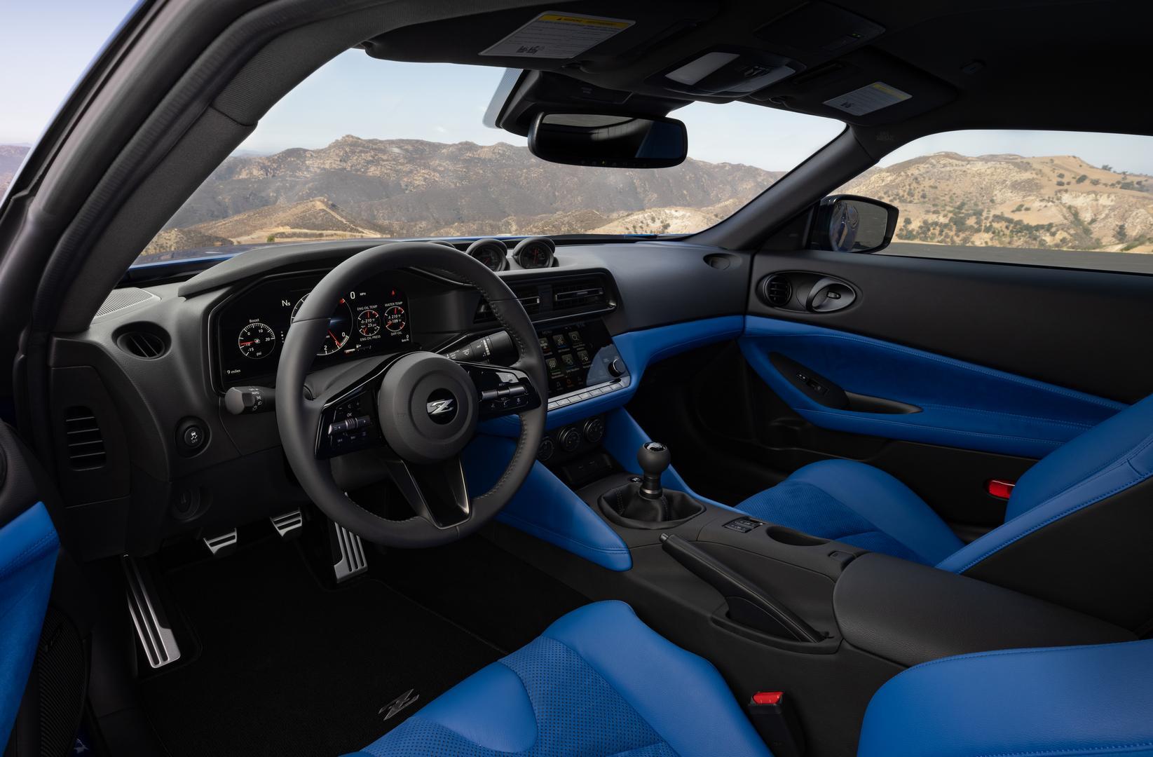 2022 Nissan Z interior blue
