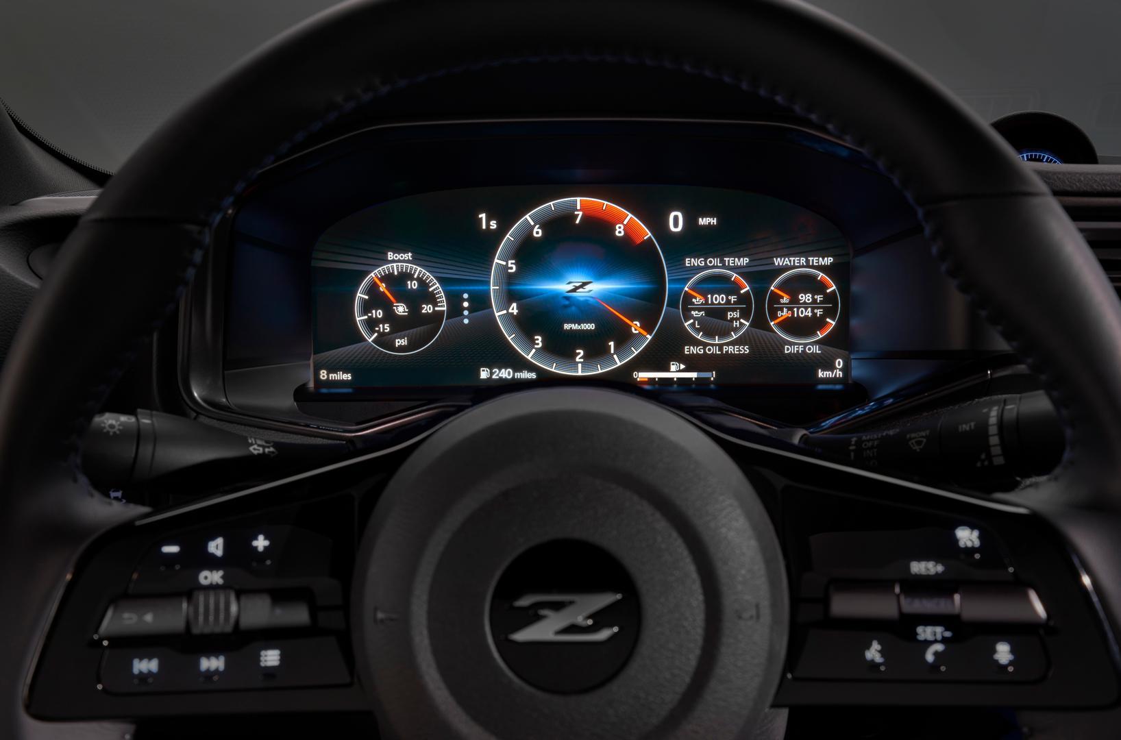 2022 Nissan Z speedo