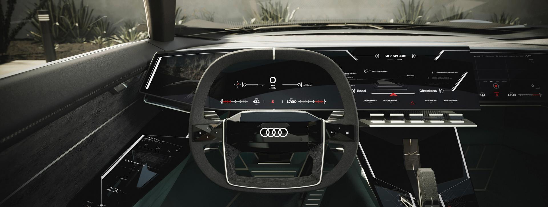 Audi skysphere steering wheel