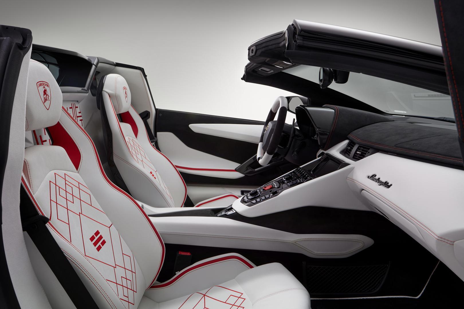 Aventador S Roadster interior