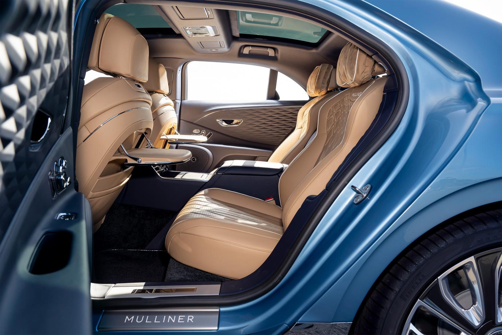 Bentley Flying Spur Mulliner rear seats