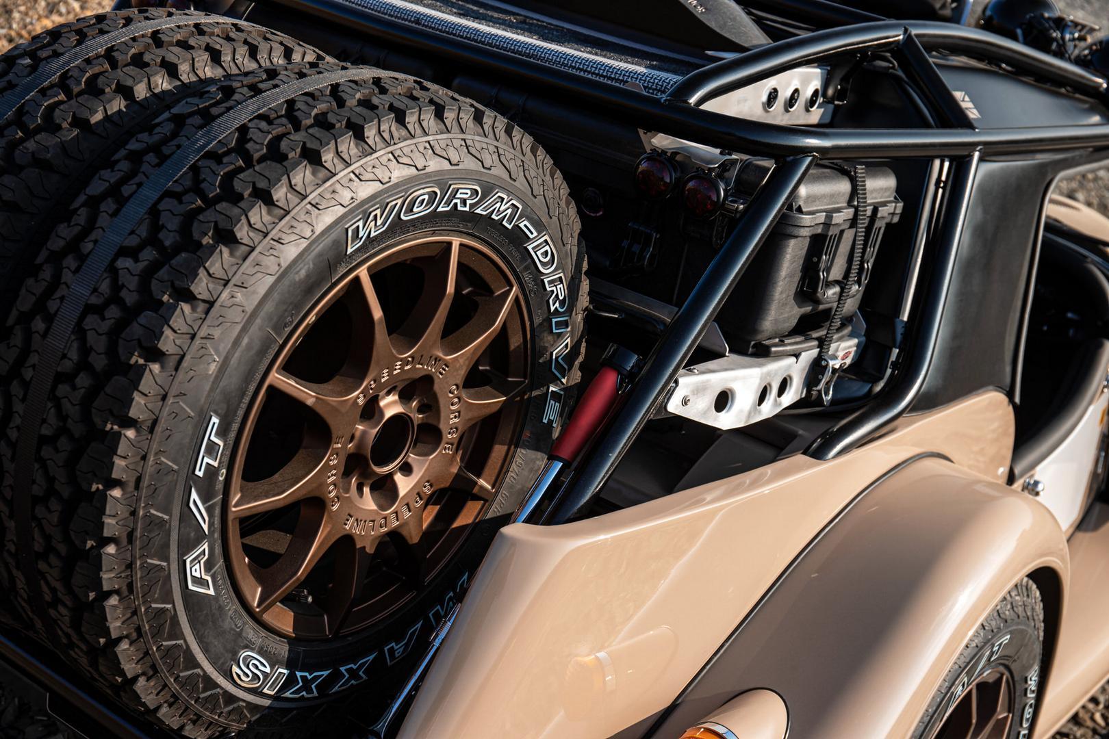 Morgan Plus Four CX-T spare wheels