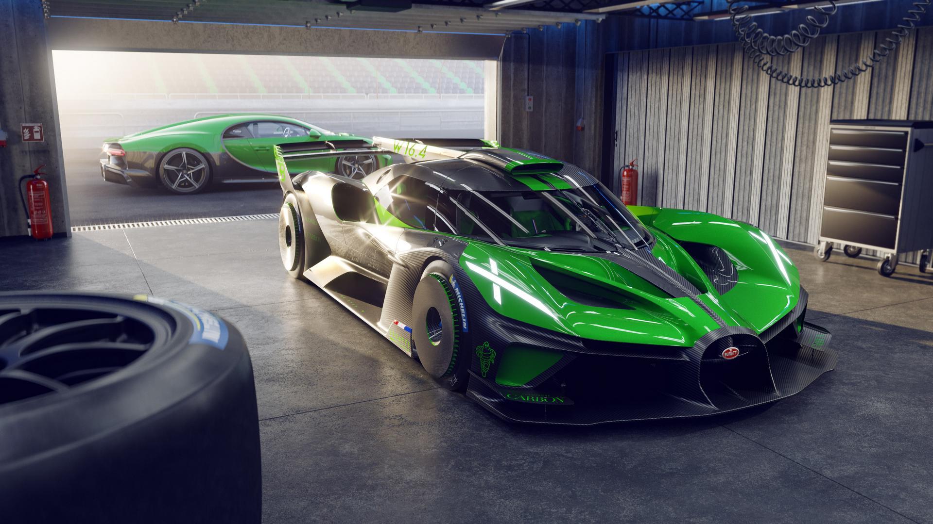 Green Bugatti Bolide