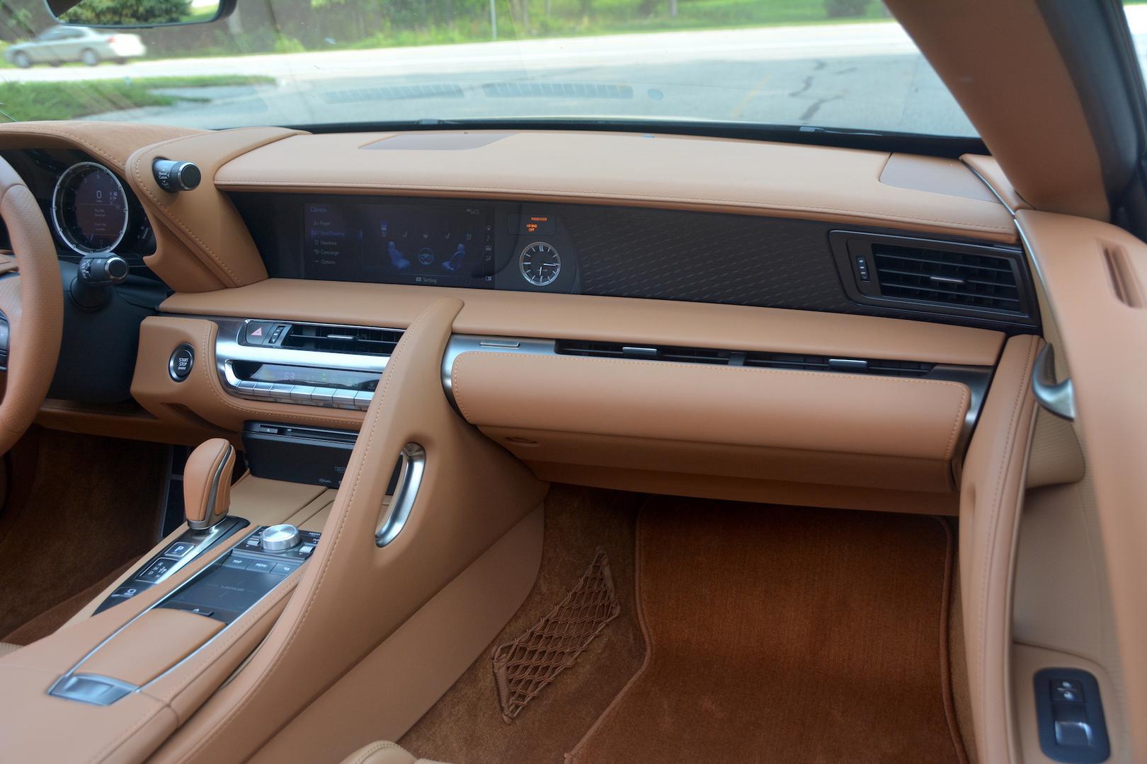 Lexus LC 500 Convertible dashboard