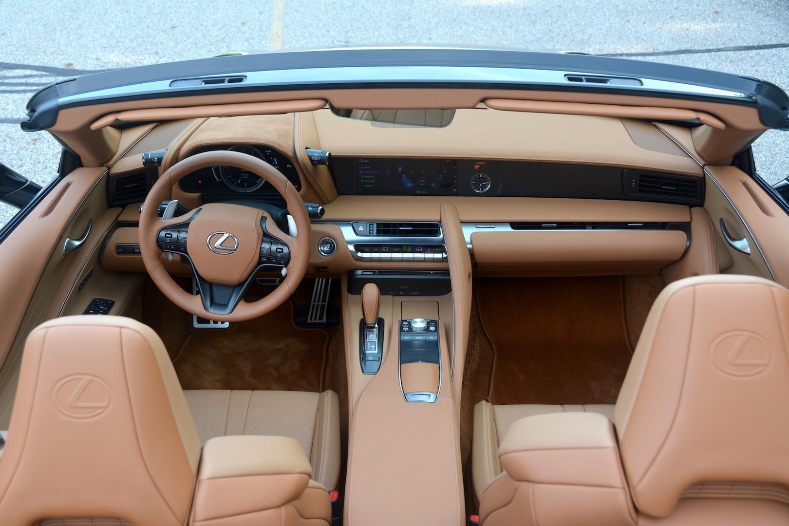 Lexus LC 500 Convertible interior