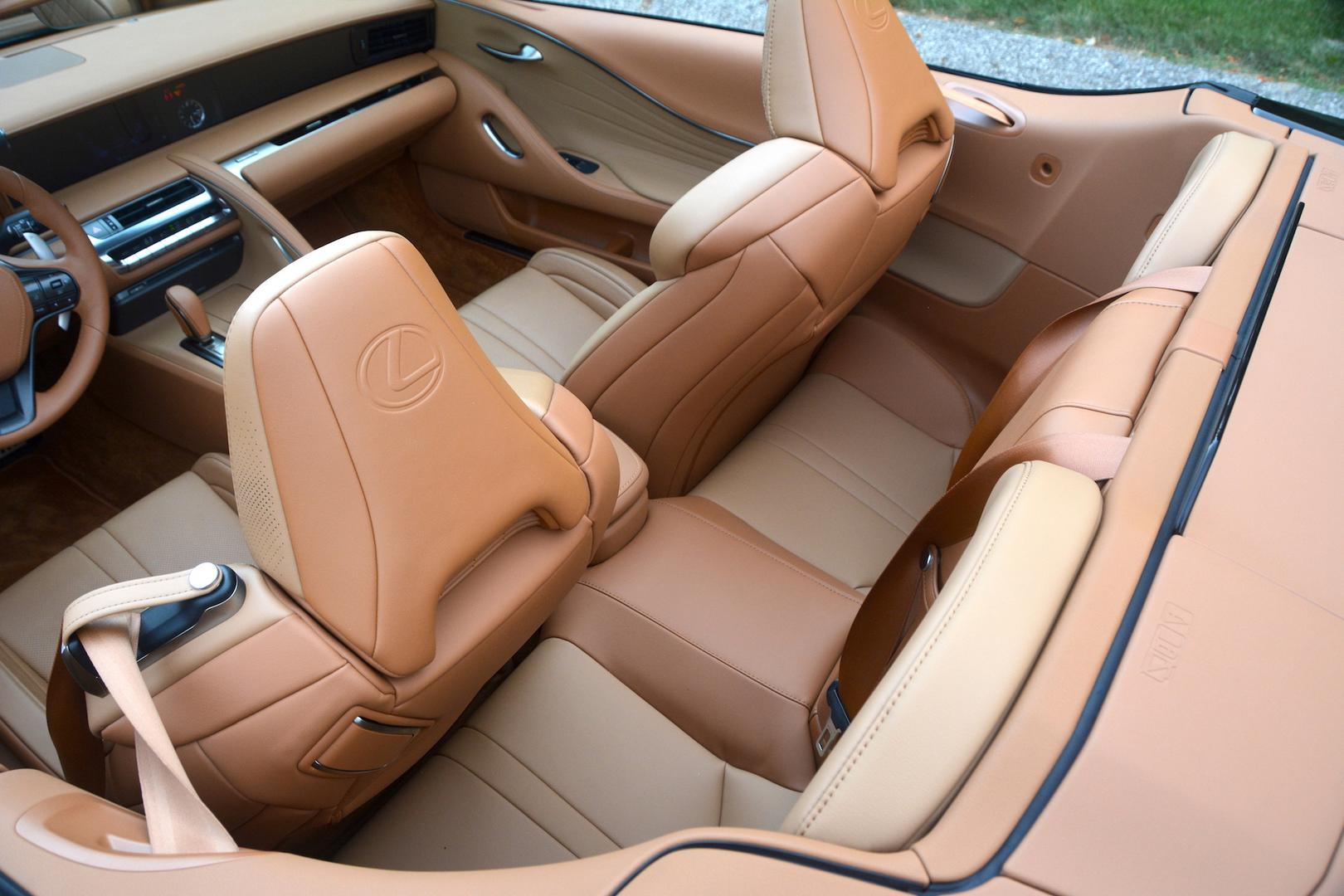 Lexus LC 500 Convertible rear seats